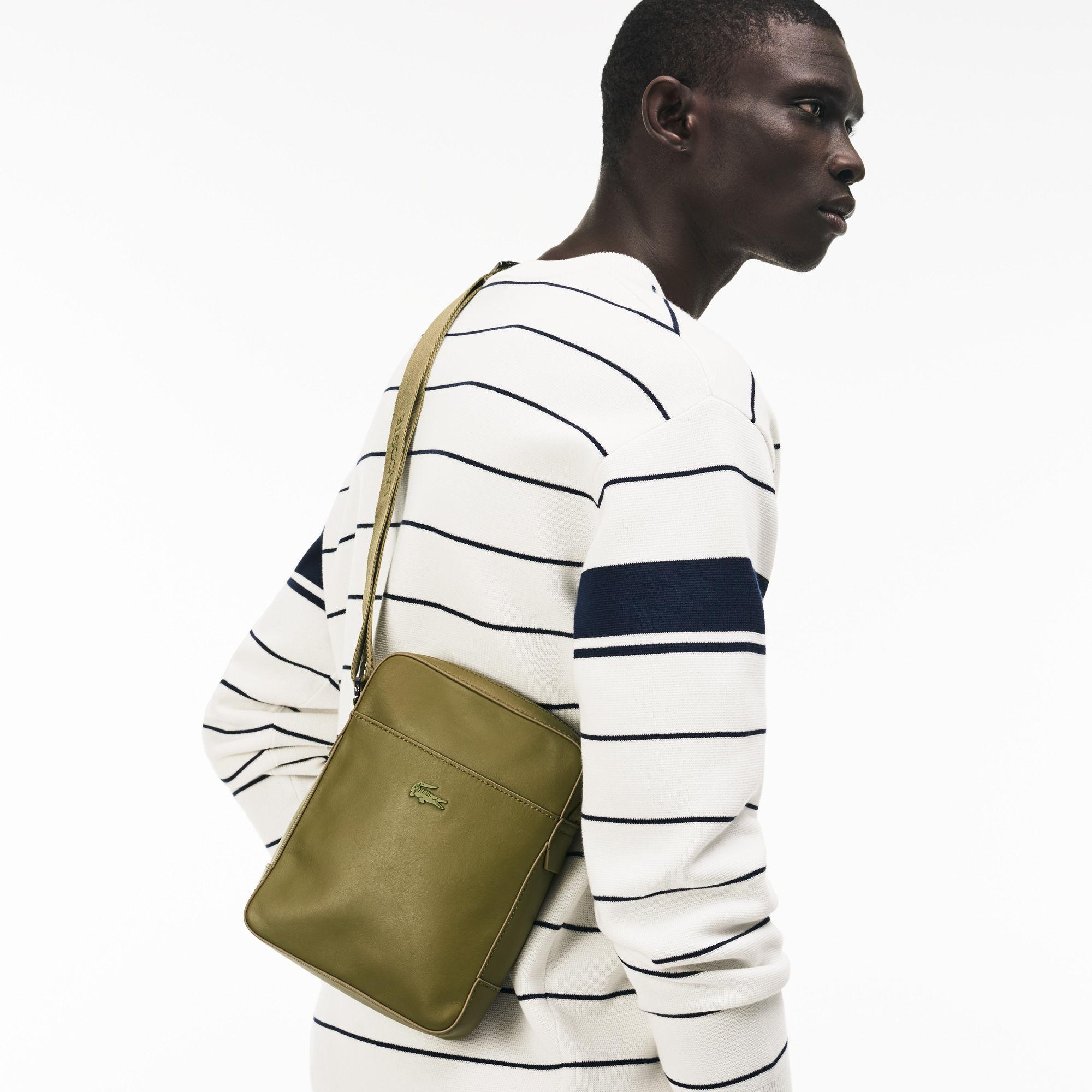 8f834edc77b8ca Lyst - Lacoste Full Ace Soft Leather Bag in Green for Men
