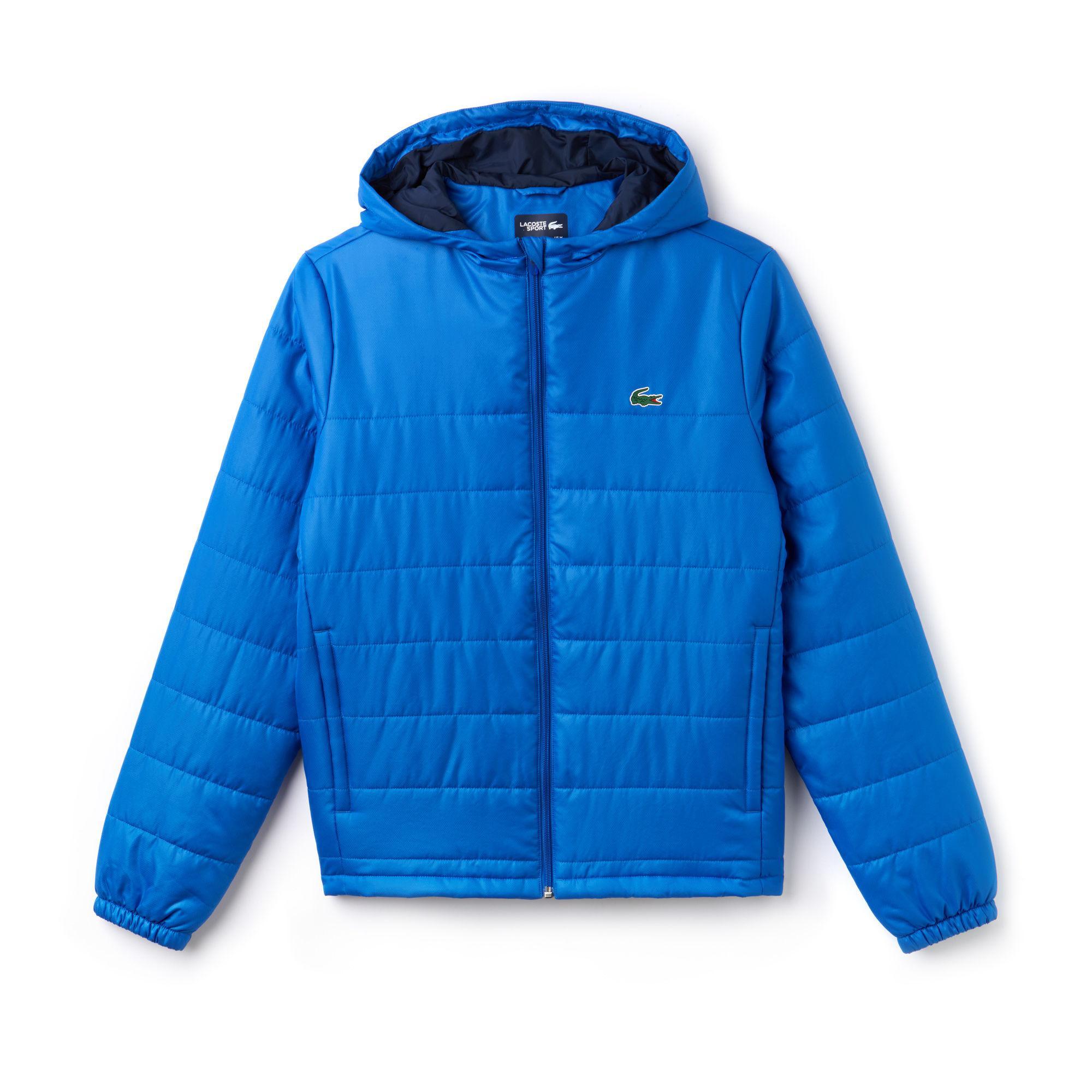 b43b0738d1 Lyst - Lacoste Sport Hooded Water-resistant Taffeta Tennis Jacket in ...