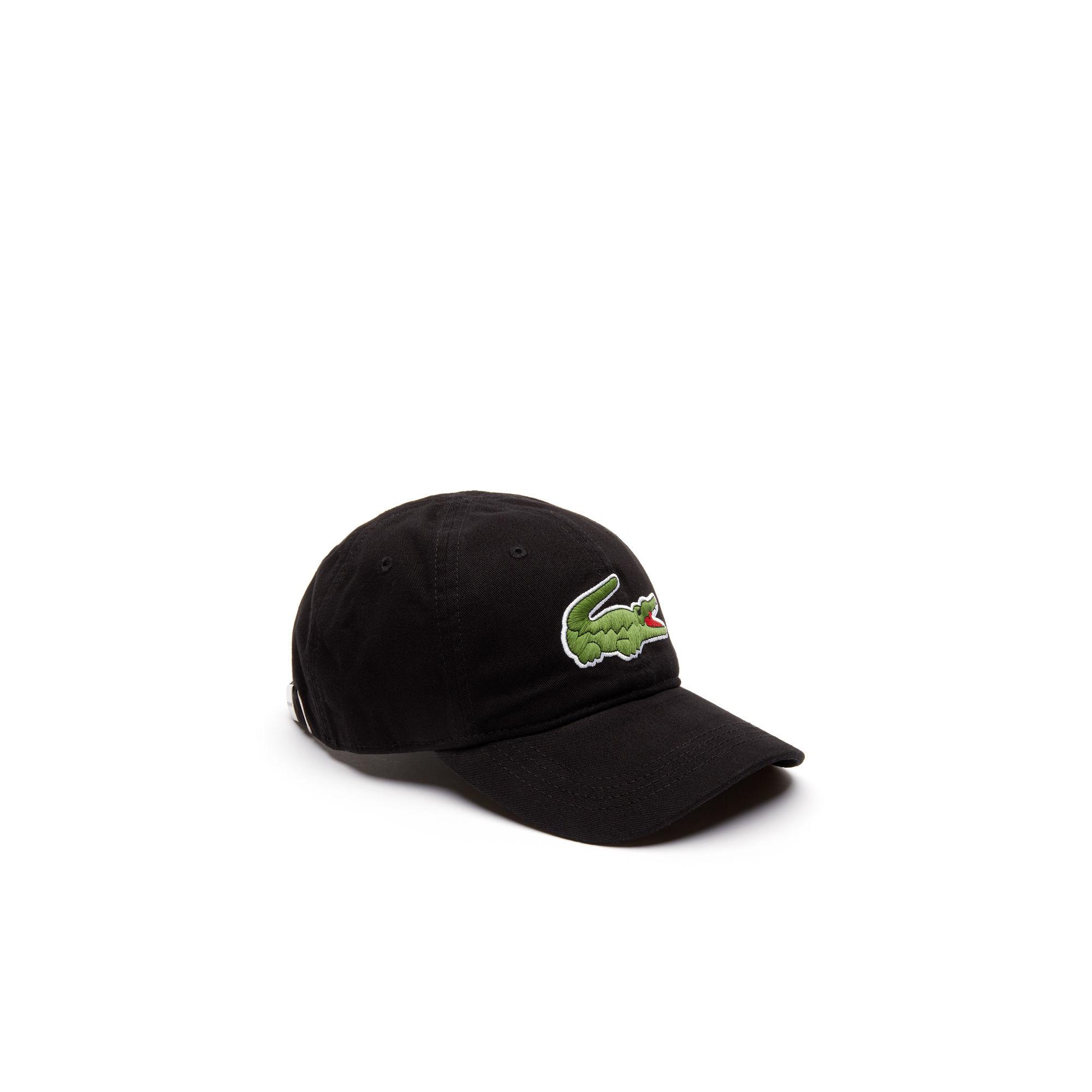 e3e7c0c2b26 Lyst - Lacoste Big Croc Gabardine Cap in Black for Men
