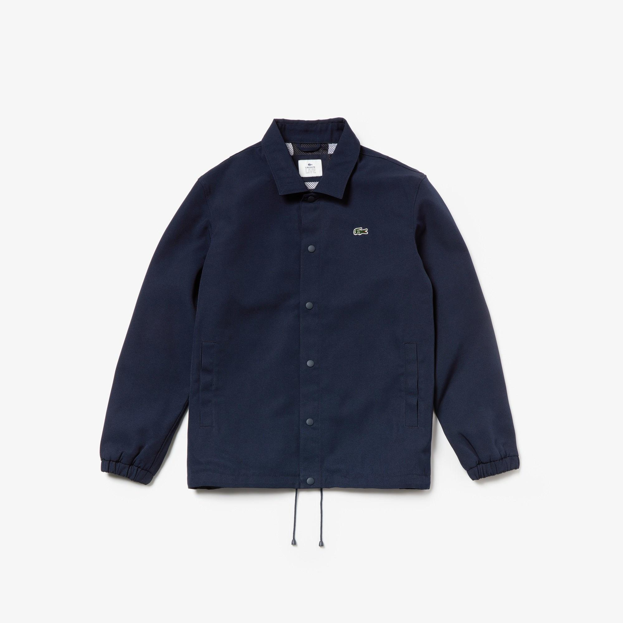 61df592b9b Lacoste Live Canvas Jacket in Blue for Men - Lyst