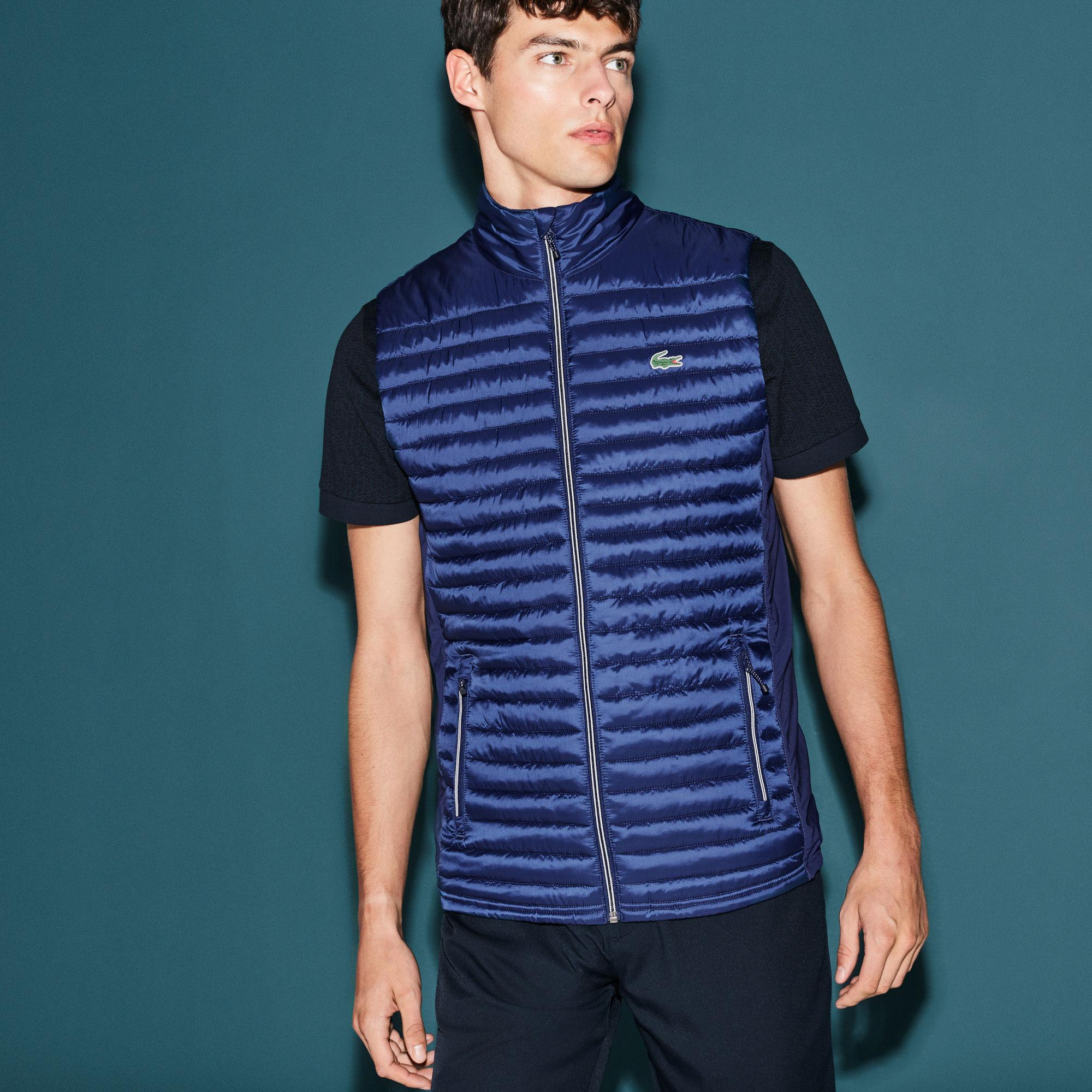 a33292e791 Lyst - Lacoste Sport Golf Water-resistant Quilted Vest in Blue for Men