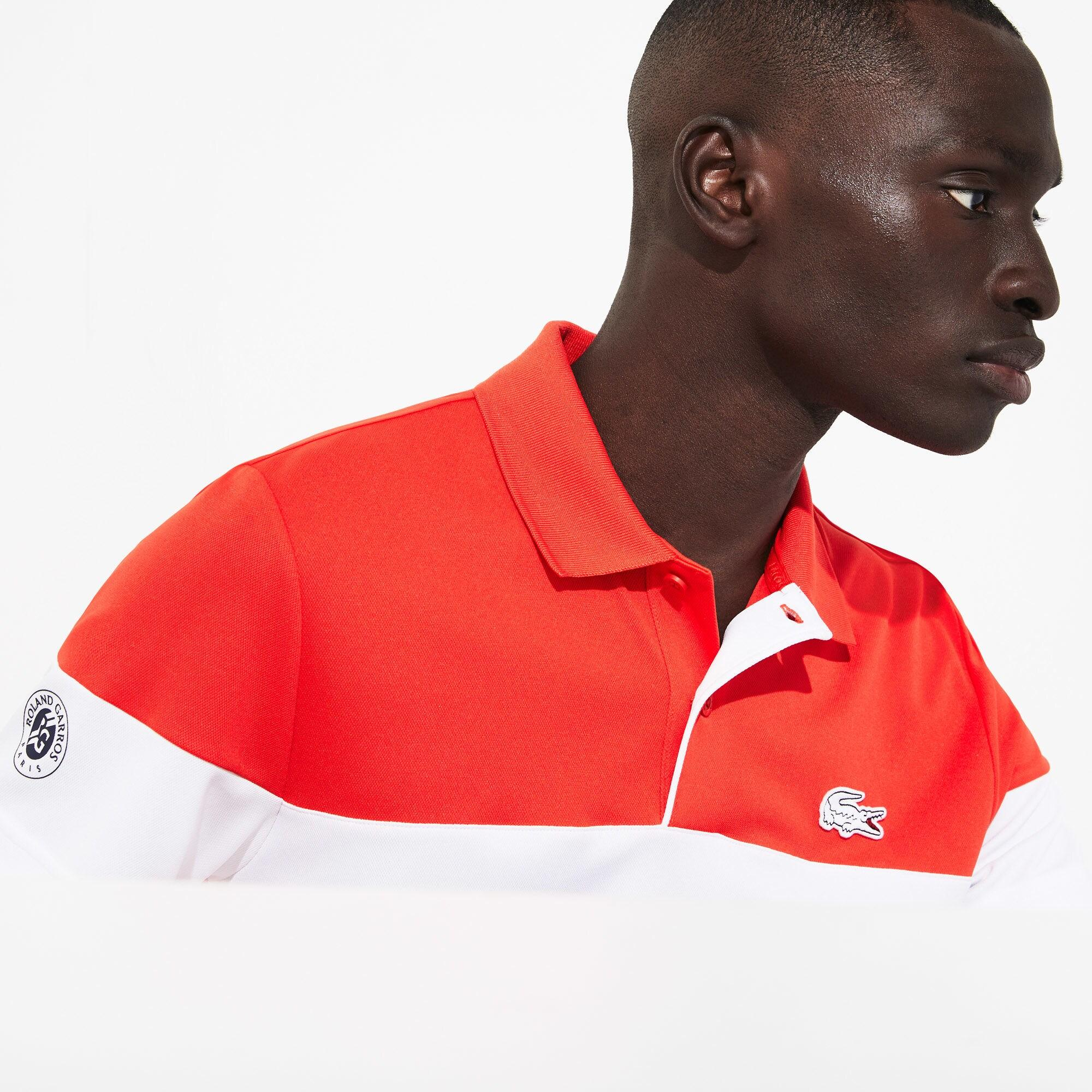 727bf57d14 Lyst - Lacoste Sport French Open Edition Piqué Polo in Red for Men