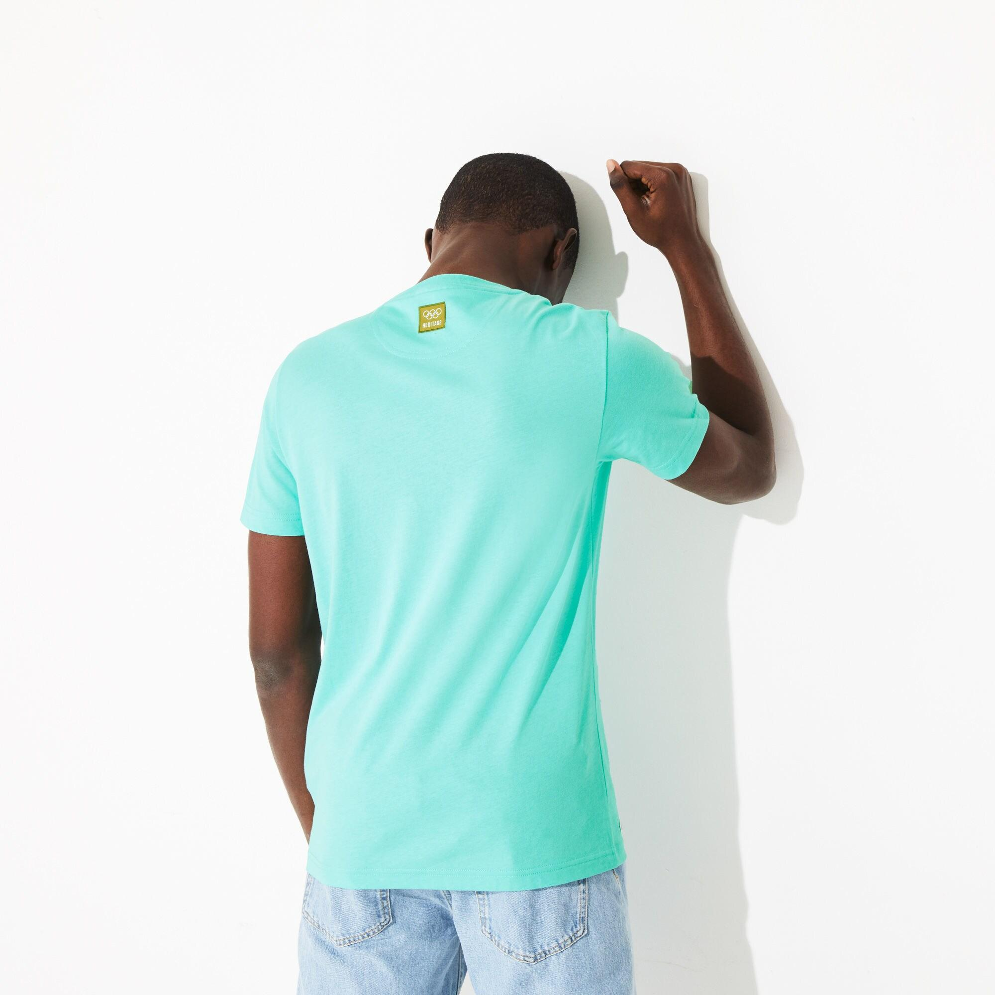 c5e73ff80a Lacoste - Blue Olympic Heritage Collection T-shirt for Men - Lyst. View  fullscreen