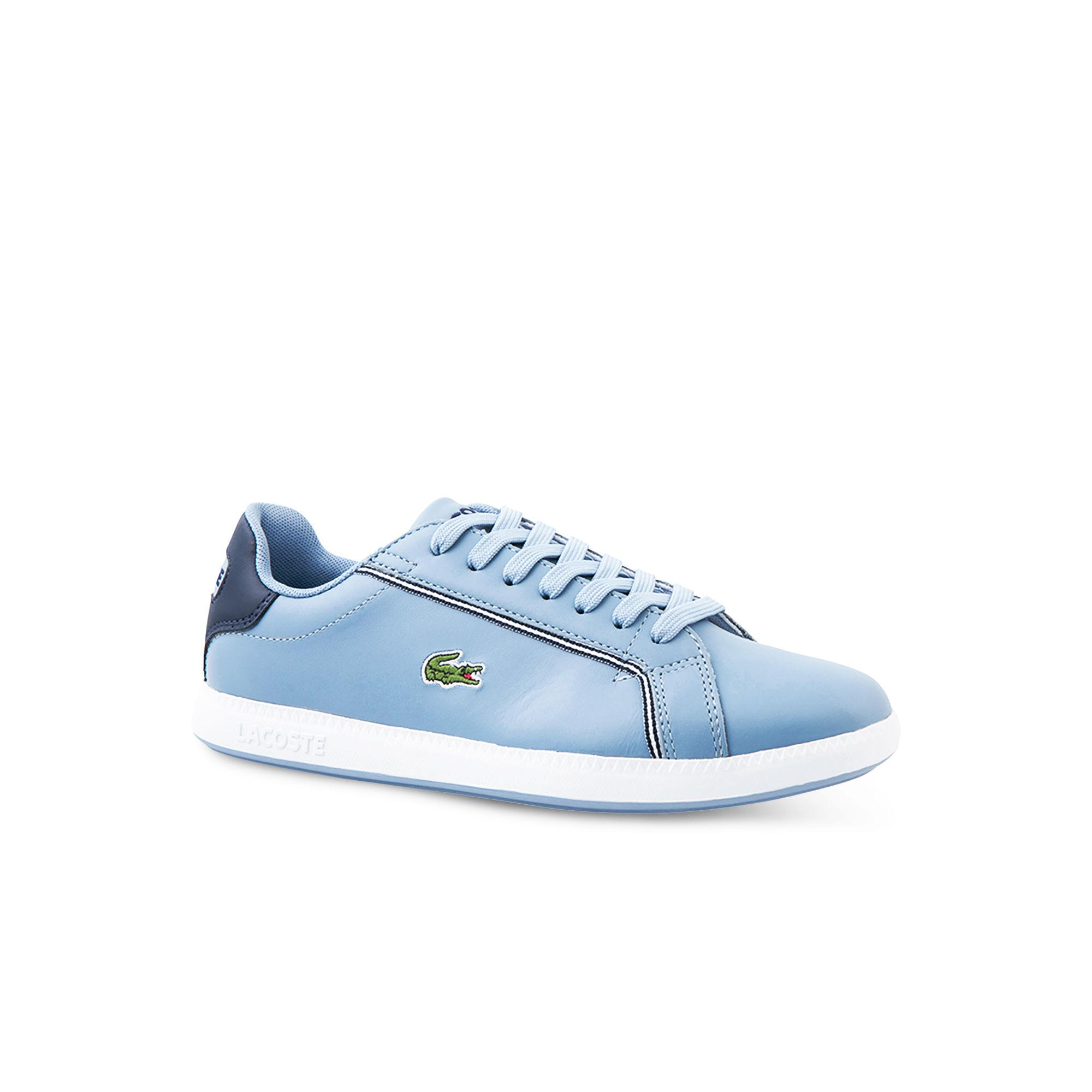 edb5521a2093 Lyst - Lacoste Graduate Bicolour Leather Trainers in Blue