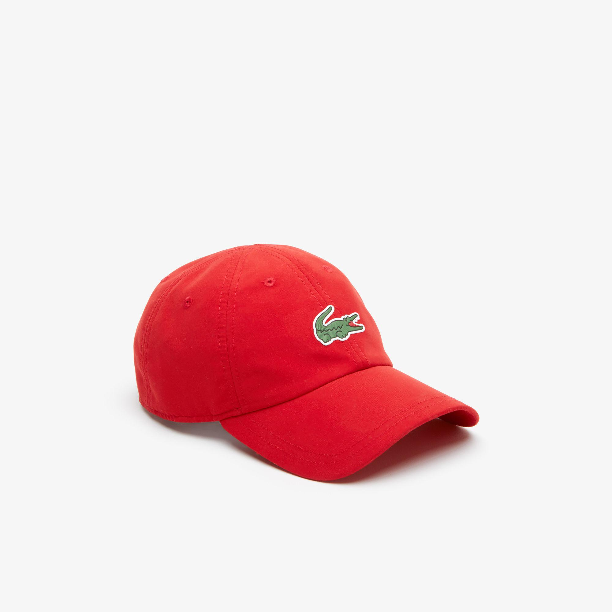 Lyst - Lacoste Sport Tennis Microfiber Crocodile Cap in Red for Men 98d43ef04354