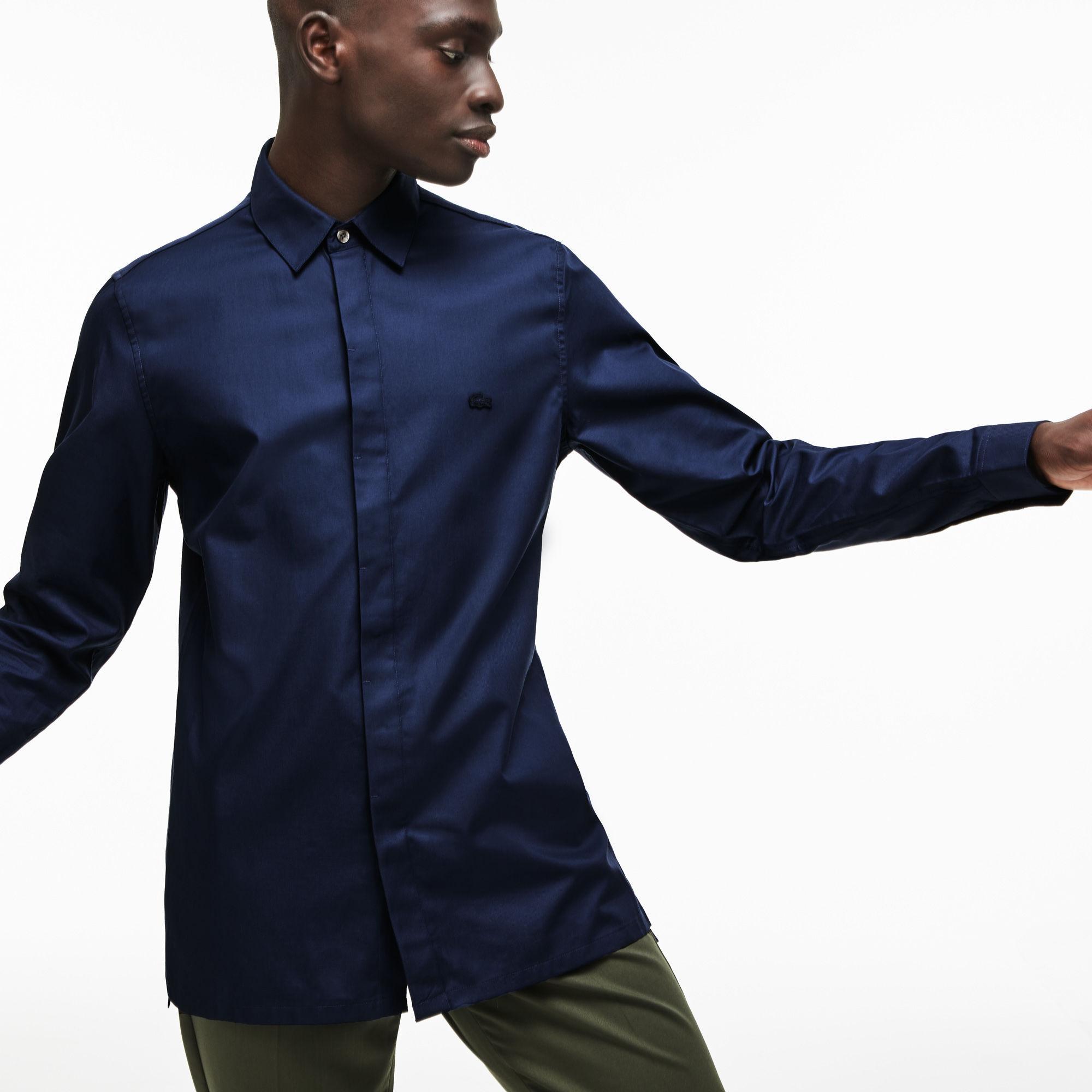 f0fd44a8e1284 Lacoste - Blue Motion Slim Fit Cotton Mini Piqué Shirt for Men - Lyst. View  fullscreen