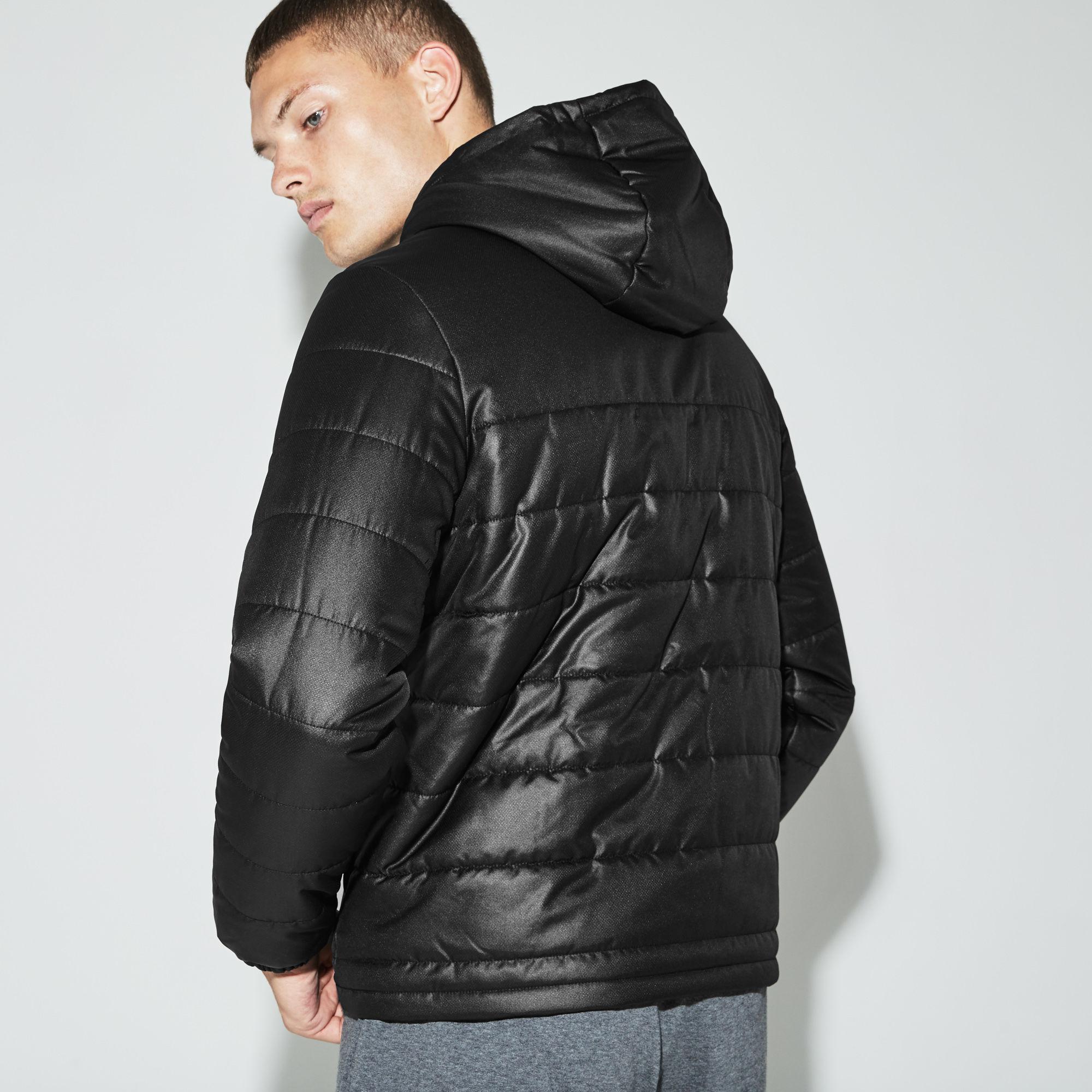 2d072d0ad8 Lacoste Sport Hooded Water-resistant Taffeta Tennis Jacket in Black ...
