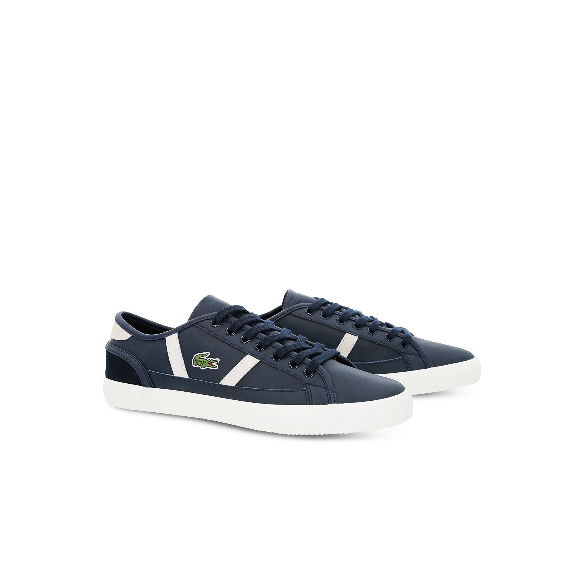 459d4af7b Lyst - Lacoste Sideline Leather And Suede Sneakers in Blue for Men