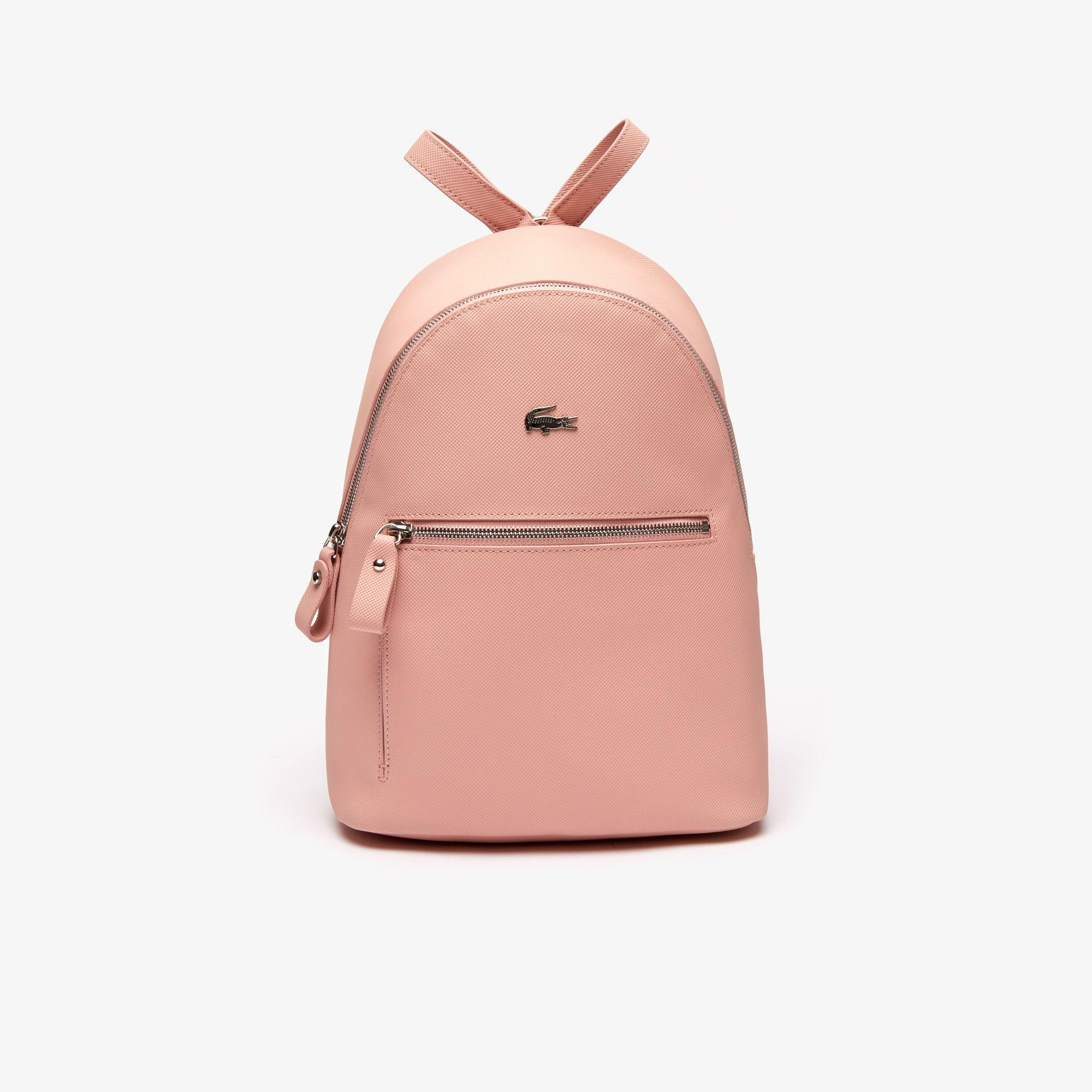 3978ad768 Lacoste - Pink Daily Classic Coated Canvas Backpack - Lyst. View fullscreen