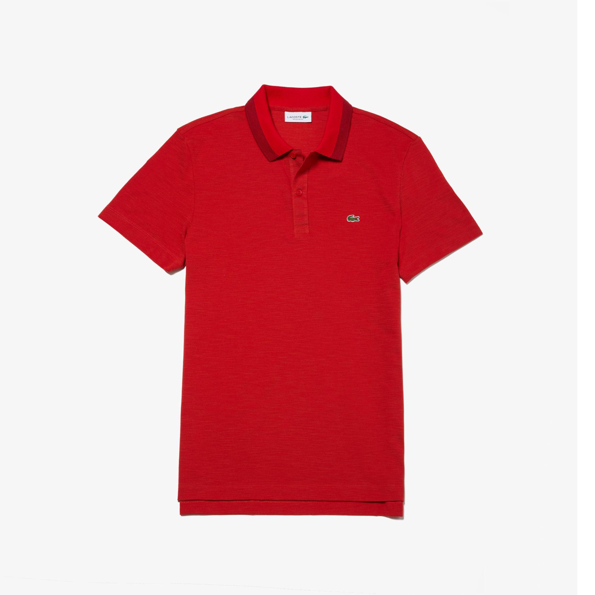 91de1f63a2eec Lacoste - Red Regular Fit Piqué Polo Shirt for Men - Lyst. View fullscreen