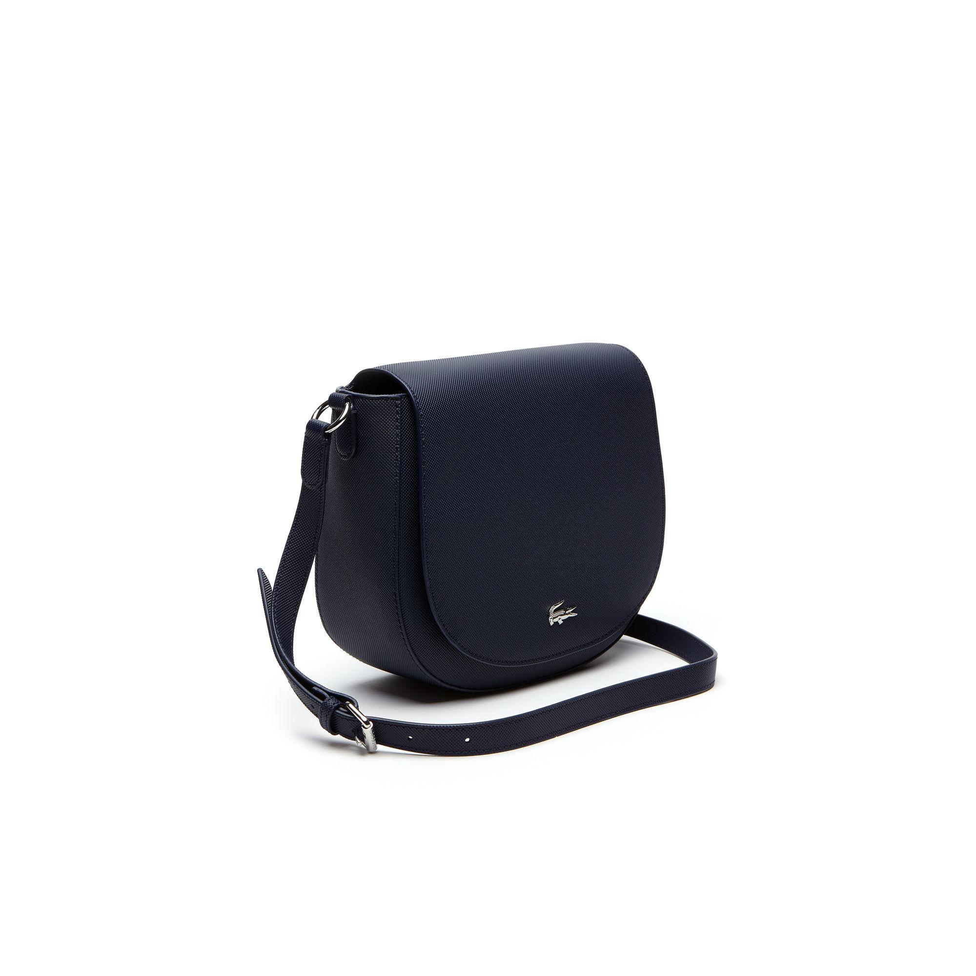 06165d68e Lyst - Lacoste Daily Classic Coated Piqué Canvas Round Crossover Bag ...