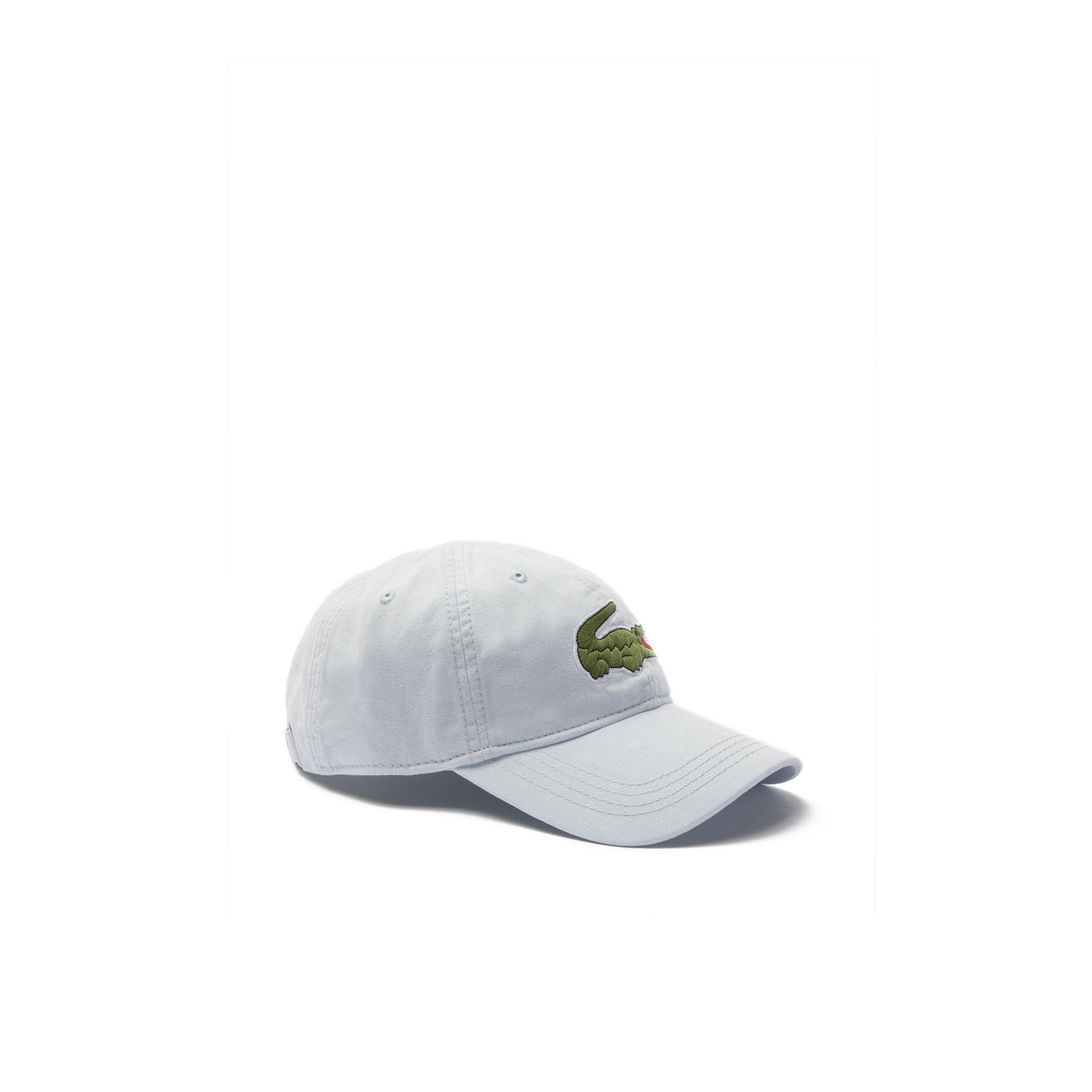 c54e8815c203c3 Lyst - Lacoste Big Croc Gabardine Cap in Gray for Men