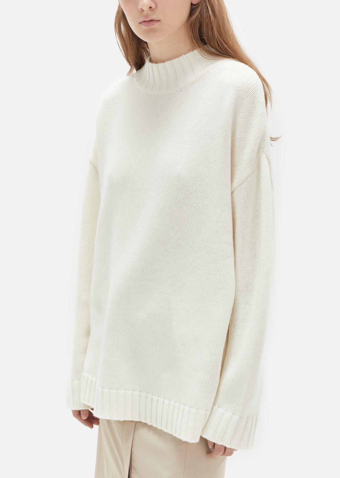 Organic by john patrick Big Sweater in White | Lyst