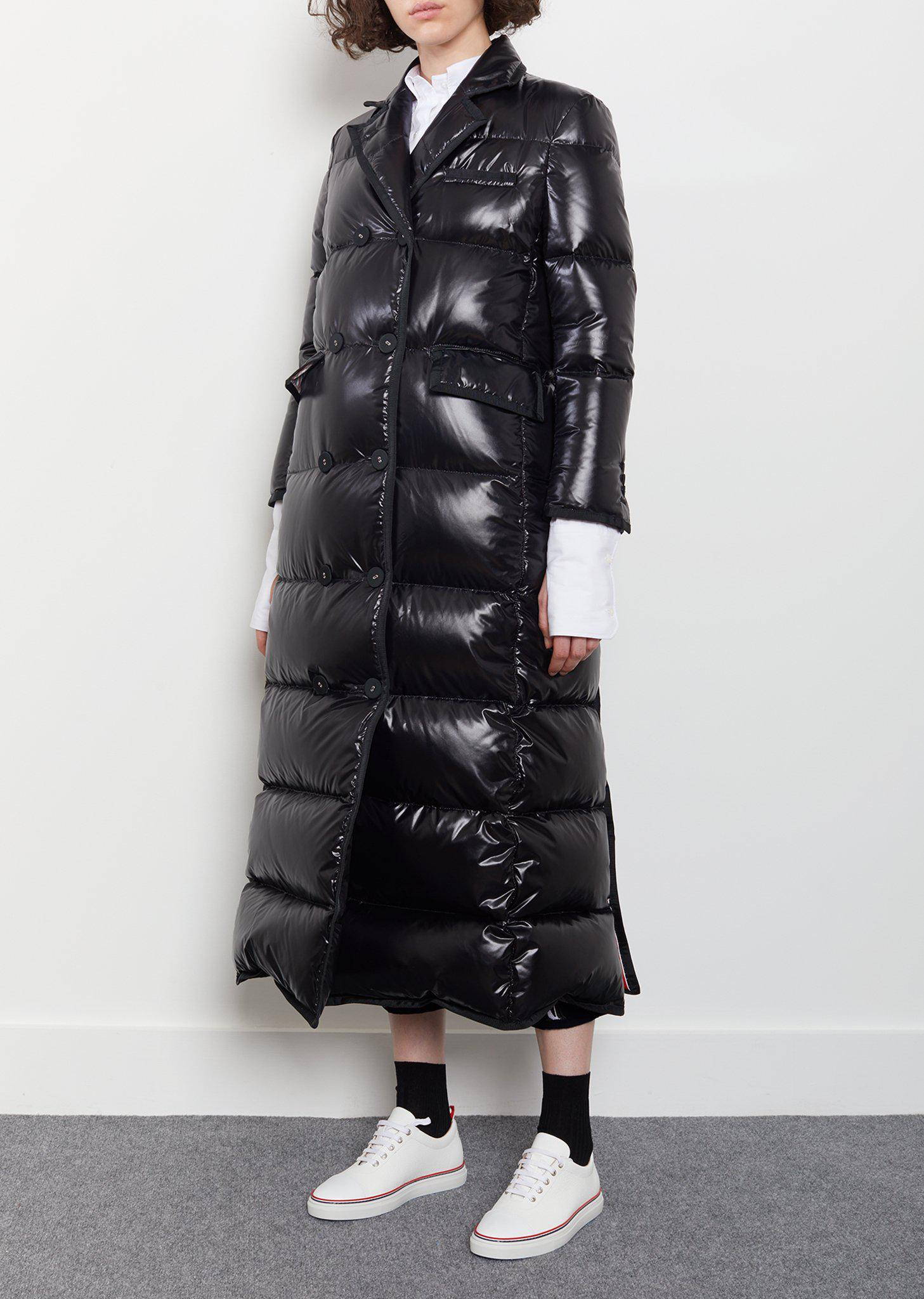 96f69e6a1d Thom Browne Down-filled Double-breasted Puffer Coat in Black - Lyst