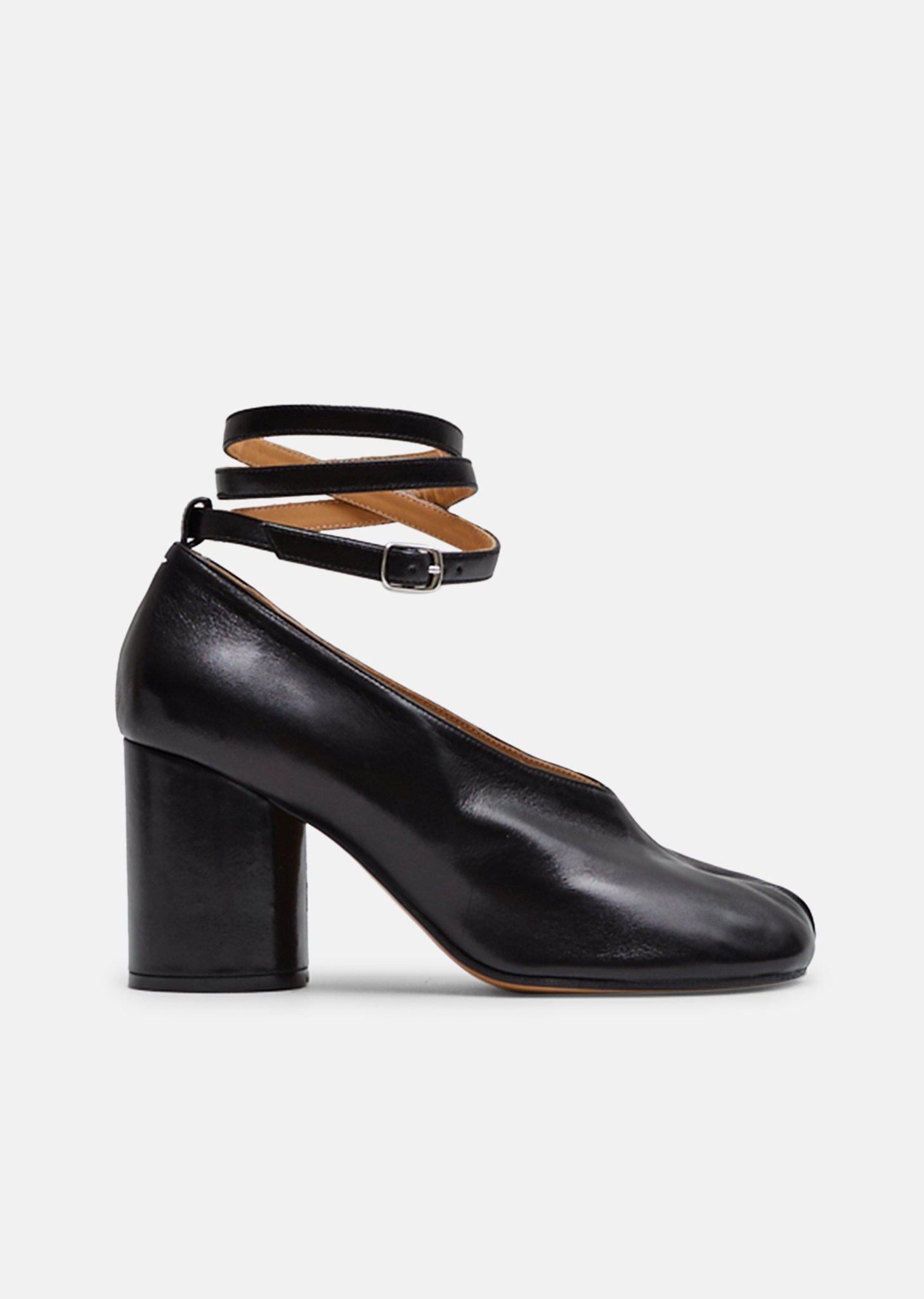 75963de1a2cd Lyst - Maison Margiela Tabi Heels With Ankle Straps in Black