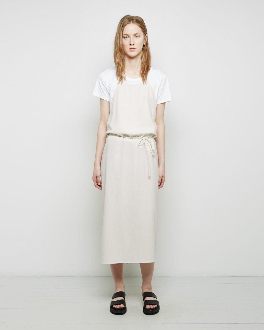 56e978cada2 Baserange New Apron Dress in White - Lyst