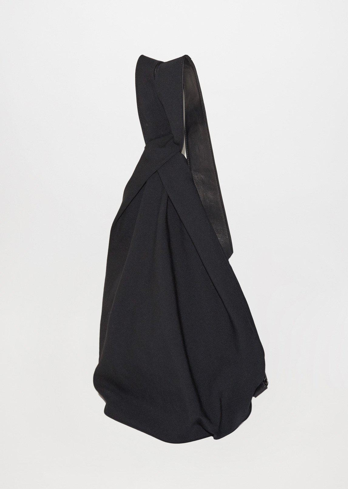 Lyst - Yohji Yamamoto Wrinkle Gabardine Drape Backpack in Black 75e4be138c