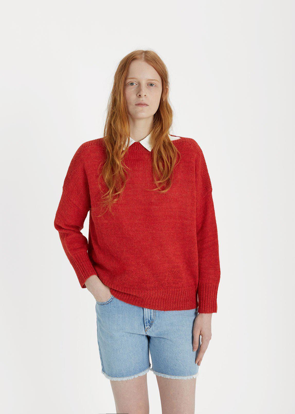 lyst toile isabel marant grace alpaca knit in red. Black Bedroom Furniture Sets. Home Design Ideas