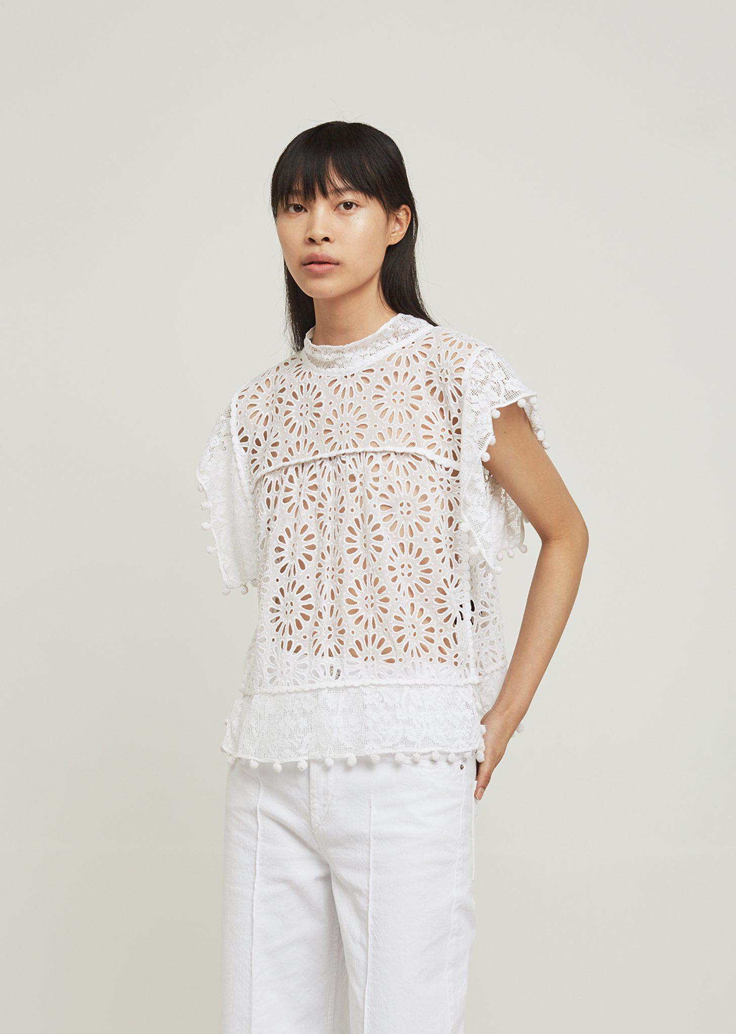 e505371530 Lyst - Isabel Marant Kerry Lace Crochet Top in White