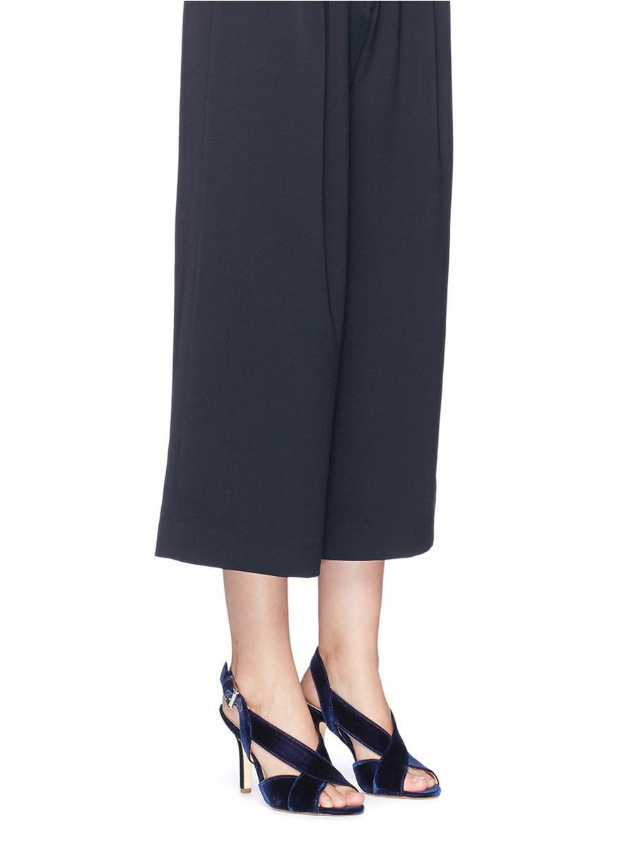 6699d688648f Michael Kors  becky  Velvet Slingback Sandals in Blue - Lyst
