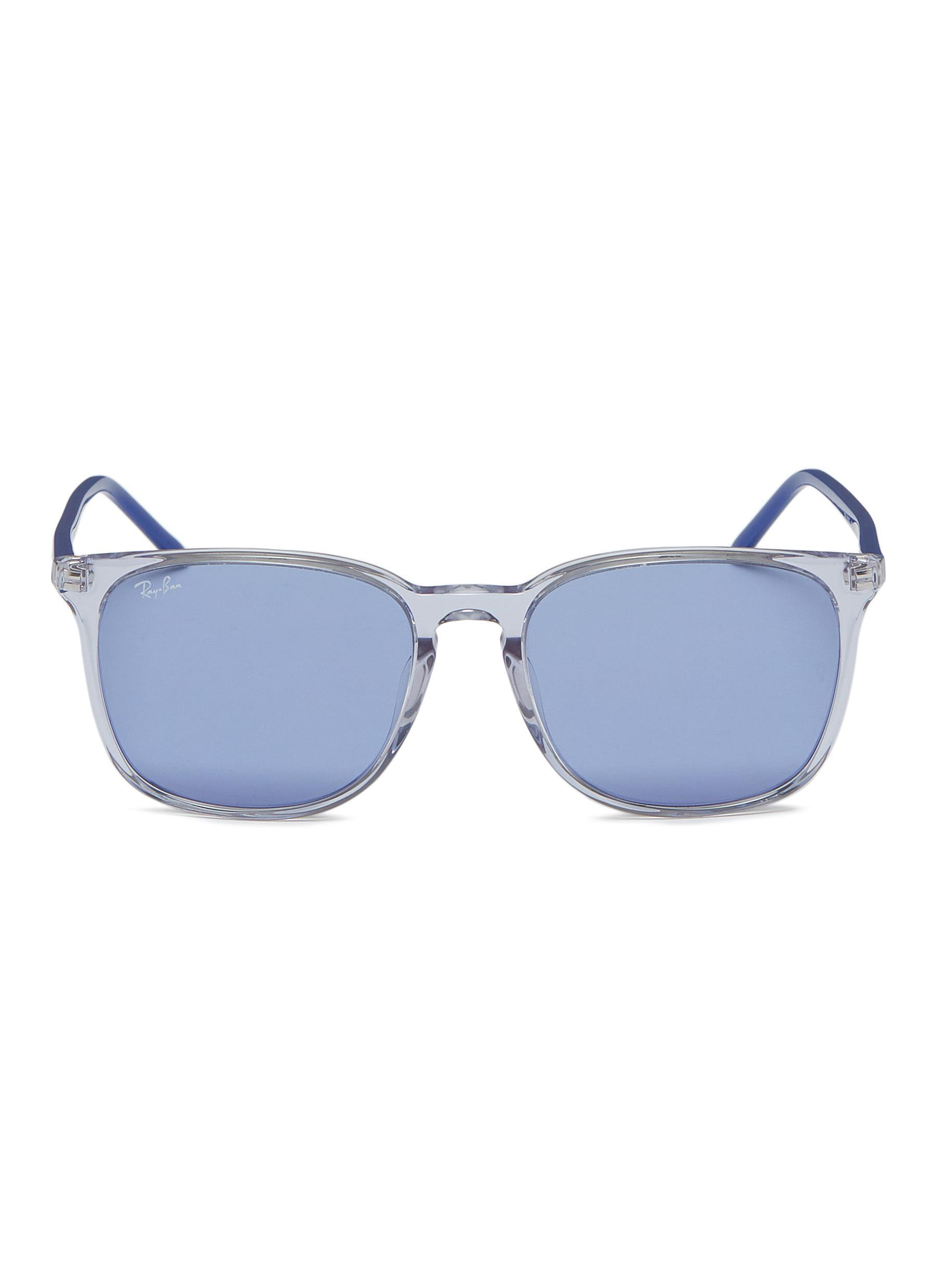 1cbbfe432b Ray-Ban  rb4387  Acetate Square Sunglasses in Blue - Lyst