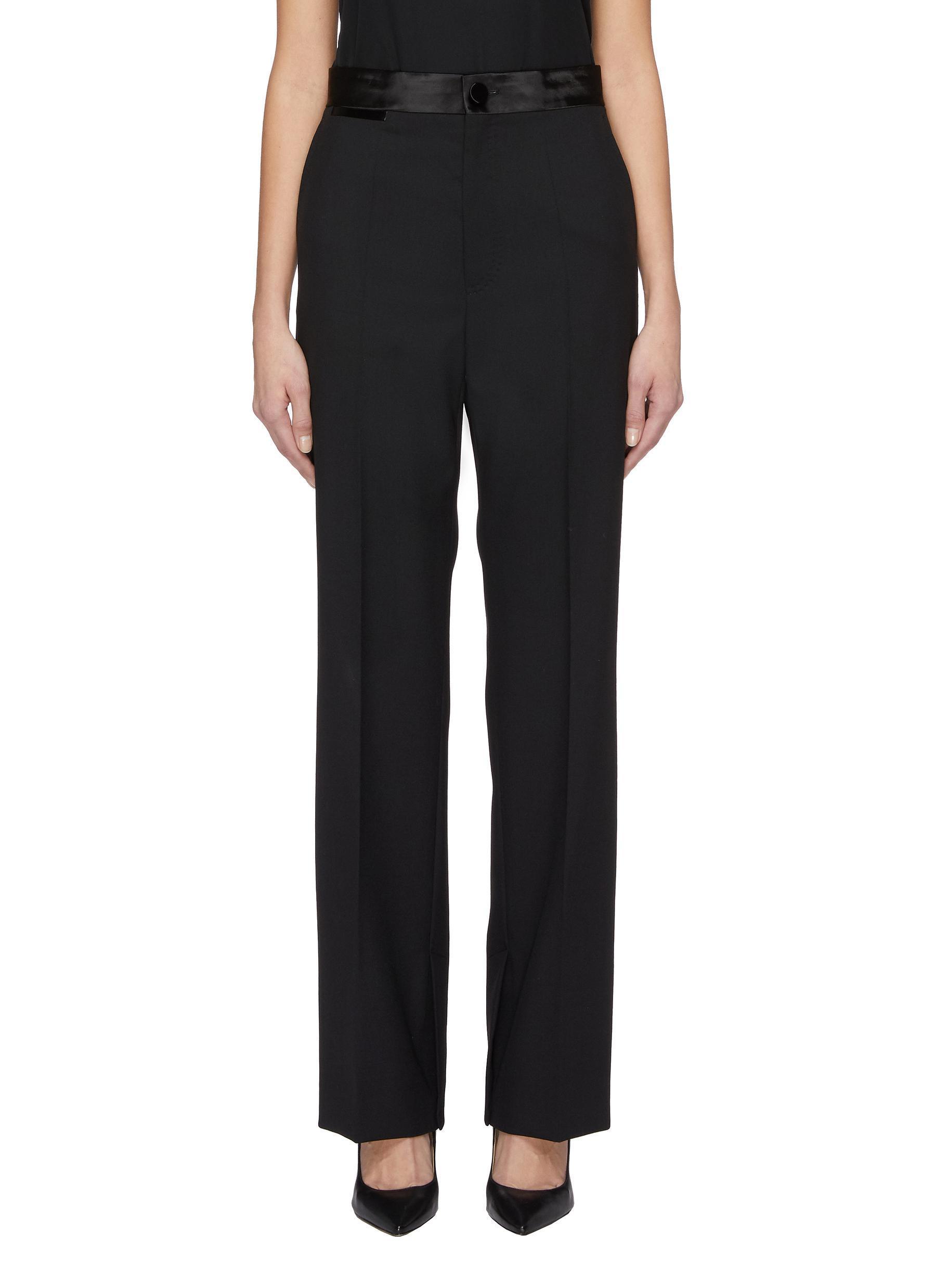 3af9ca0c3014e Lyst - Helmut Lang Virgin Wool-mohair Canvas Tuxedo Pants in Black