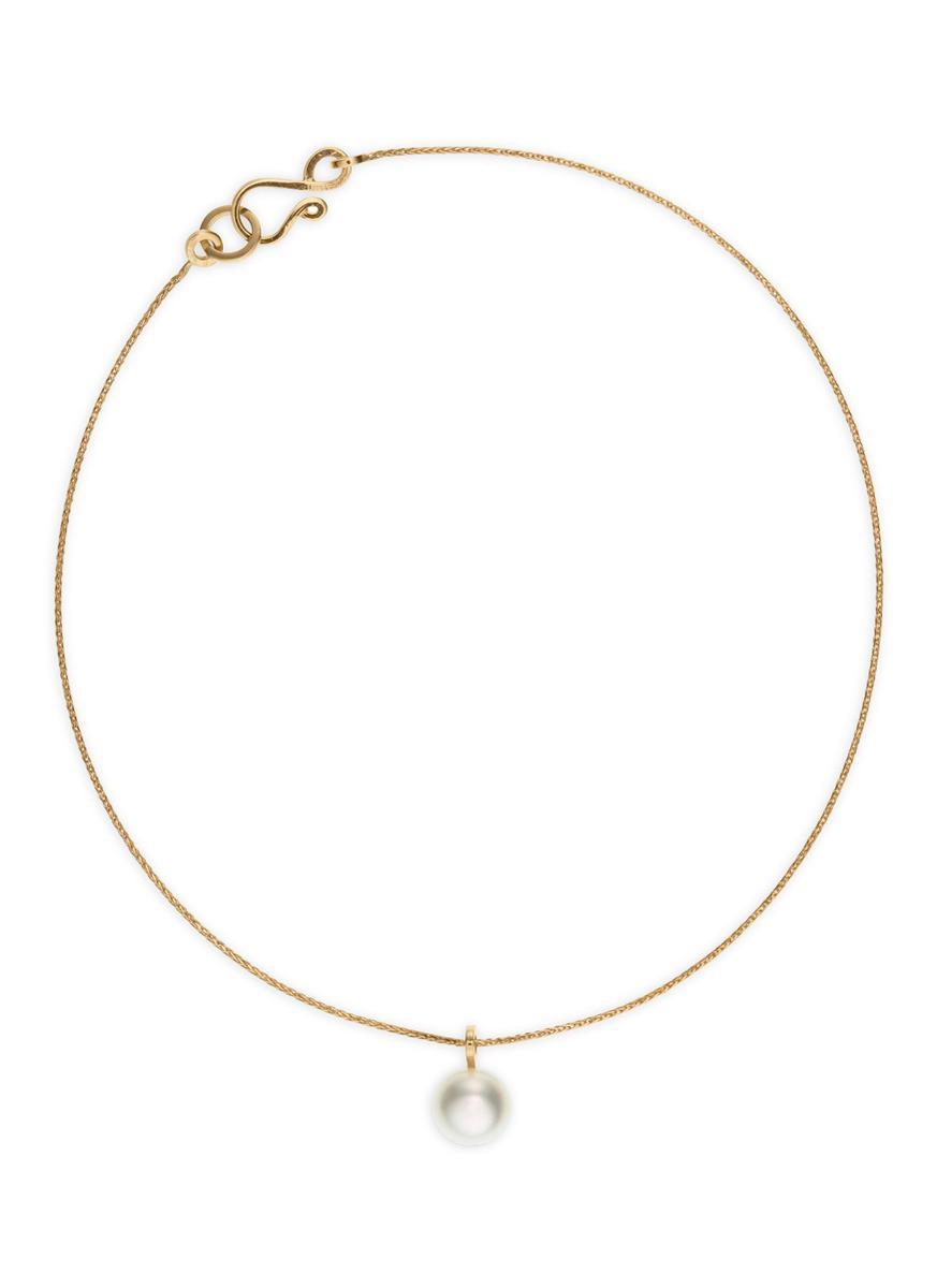 Sophie Bille Brahe Palme de Perle 14kt gold bracelet with pearl C6qgc3