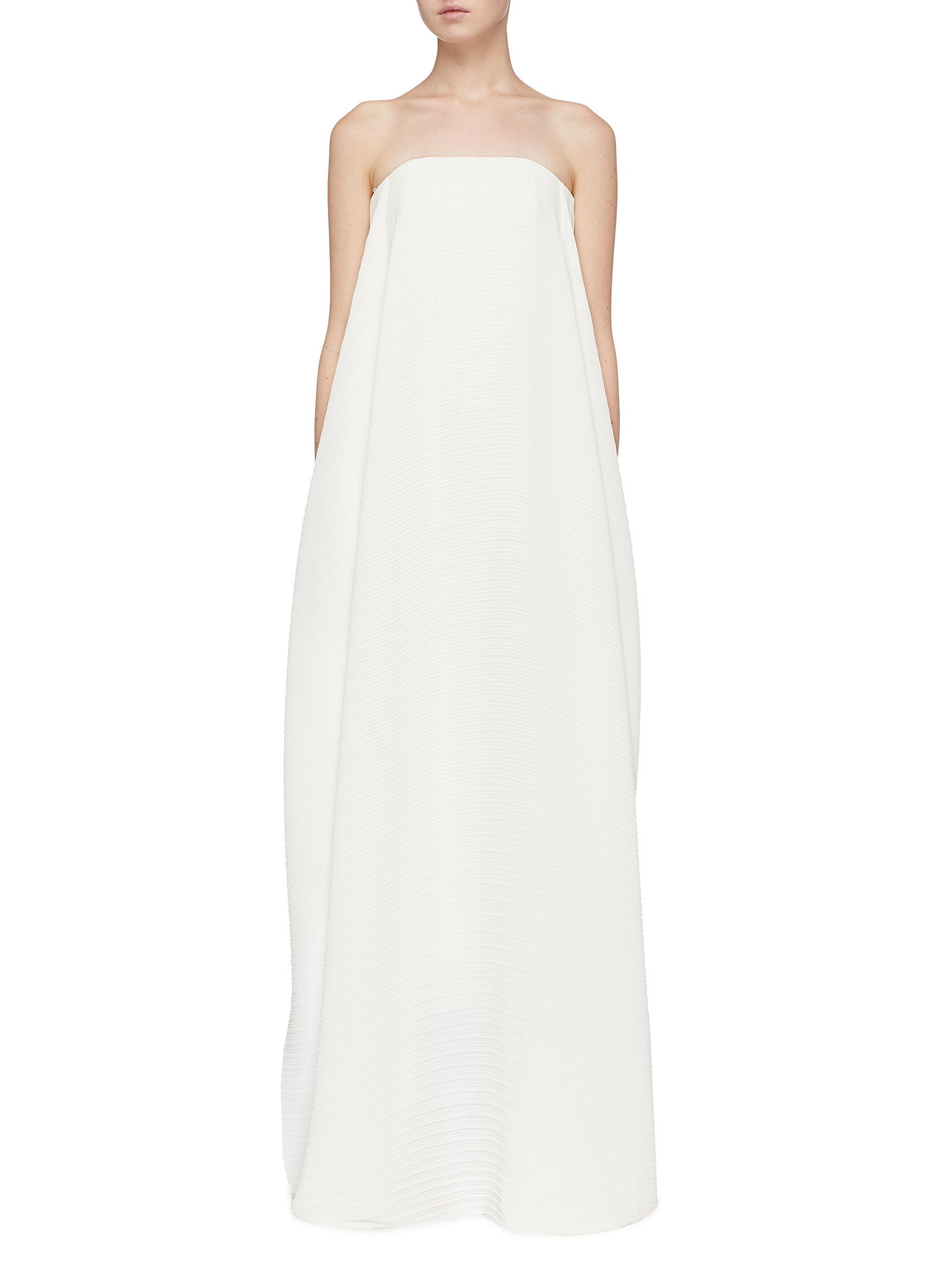 31ca1dd3e28 Solace London 'alette' Drape Front Pleated Strapless Maxi Dress in ...