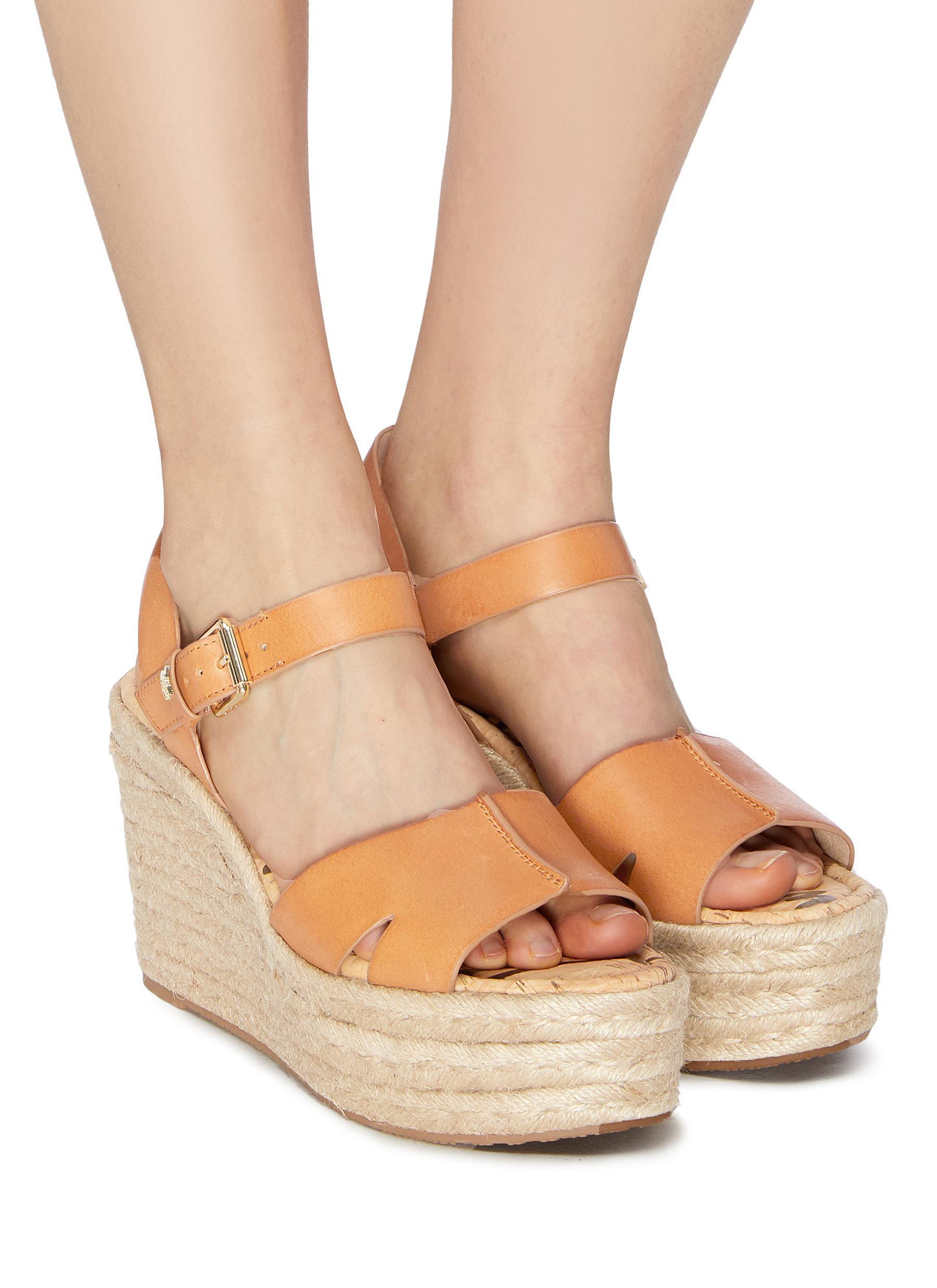 f7627a8b3ab2 Sam Edelman - Multicolor  maura  Leather Espadrille Wedge Sandals for Men -  Lyst. View fullscreen