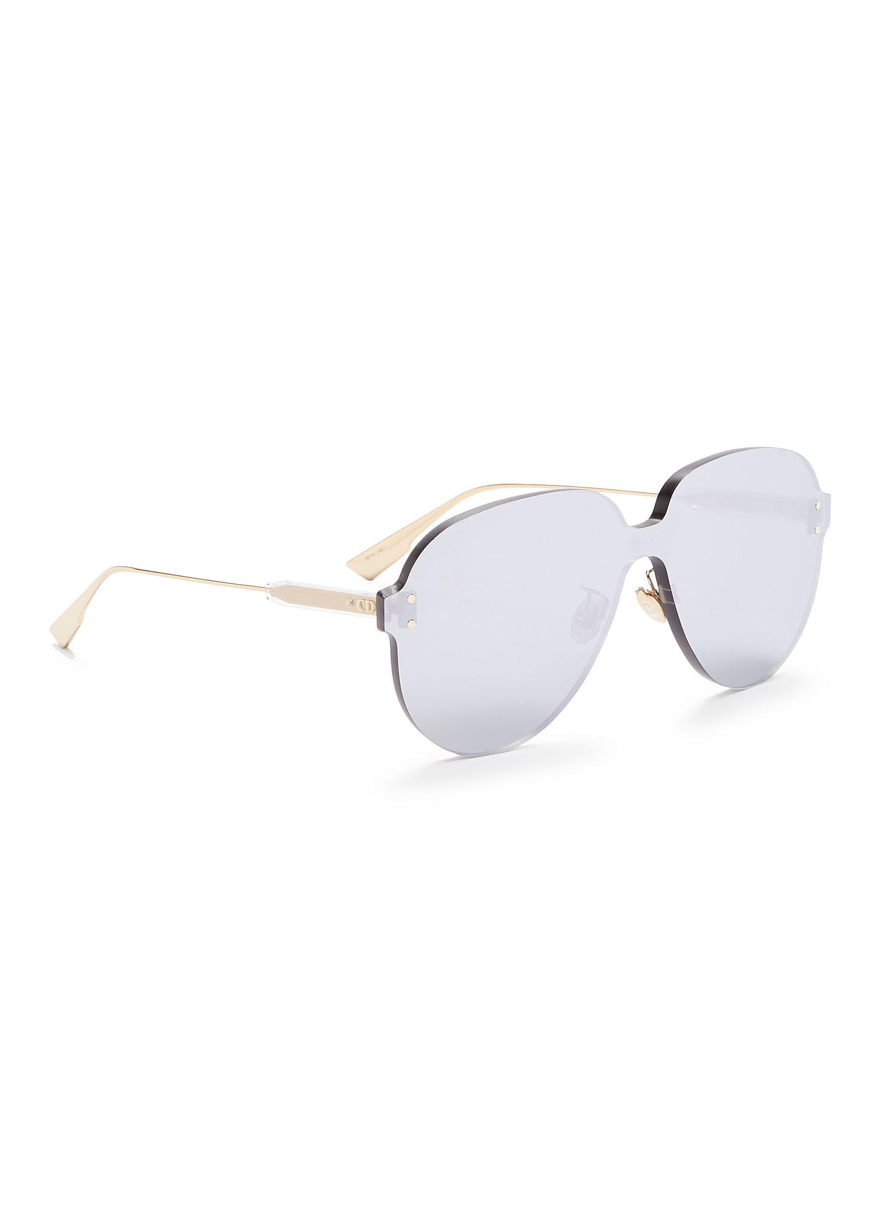 82da1fedb9b Lyst - Dior   Color Quake 3  Rimless Aviator Sunglasses in Metallic