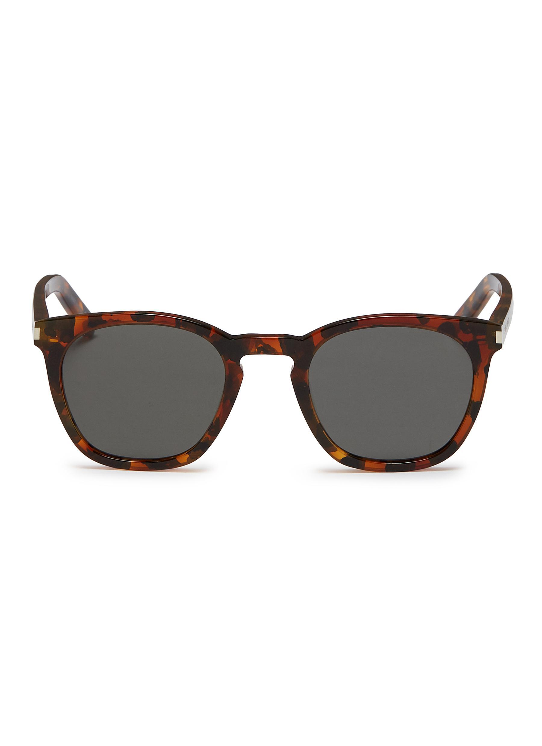 c8c008dd5aa6 Saint Laurent. Men s  classic 28  Tortoiseshell Acetate Square Sunglasses