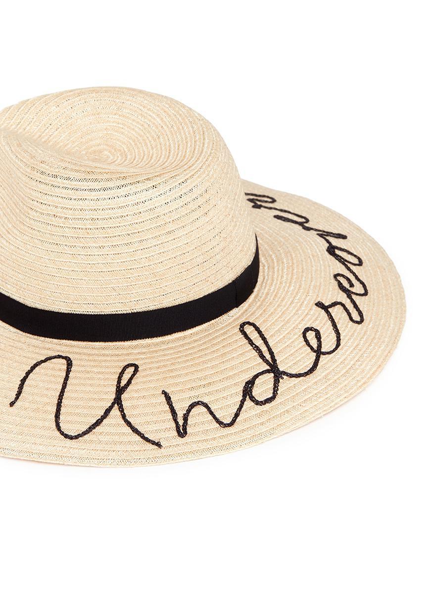 Lyst - Eugenia Kim  emmanuelle  Slogan Straw Sun Hat in Natural d158b472e1f