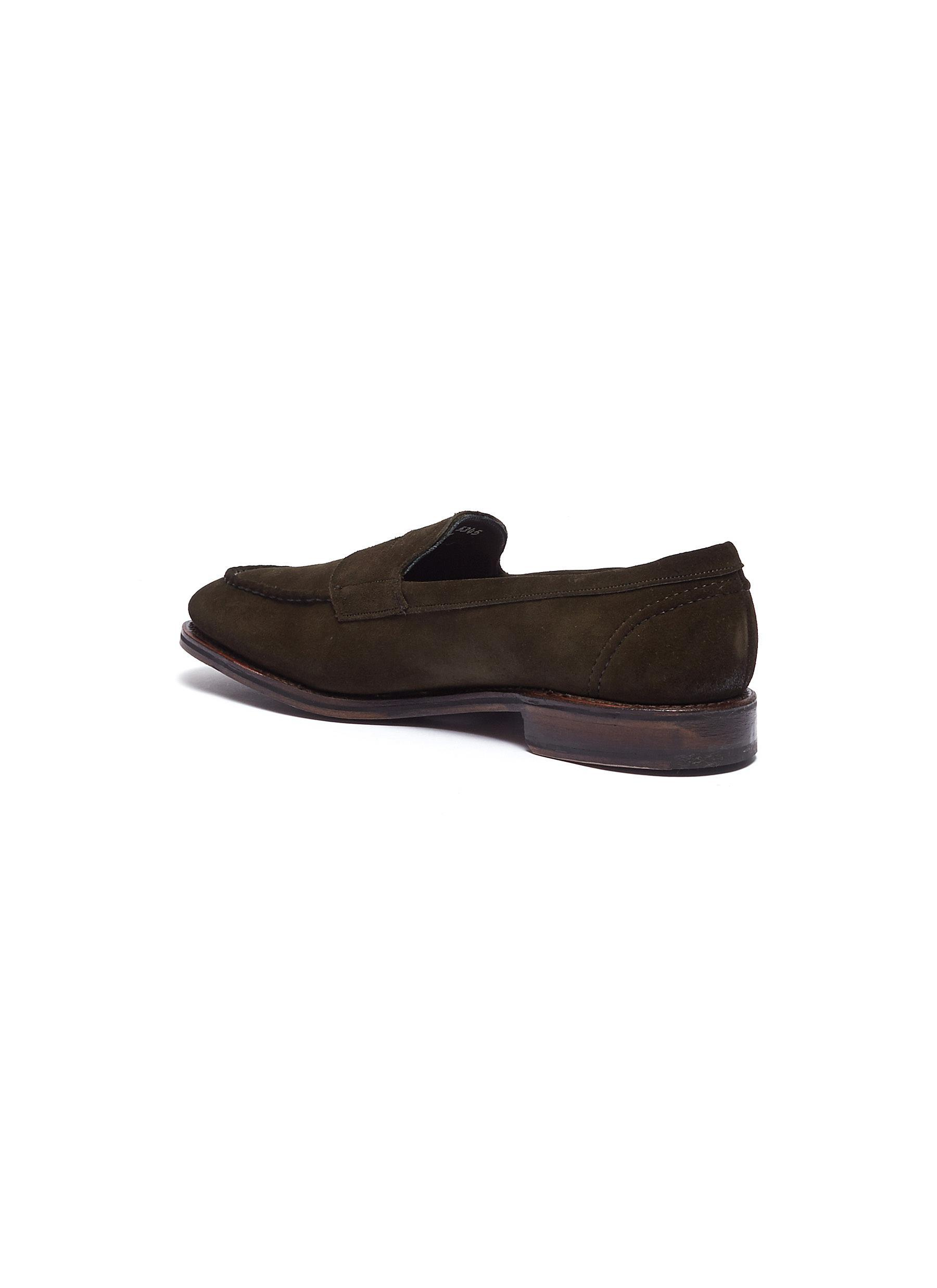 de3901d5c02 Allen Edmonds - Green  mercer Street  Suede Penny Loafers for Men - Lyst.  View fullscreen
