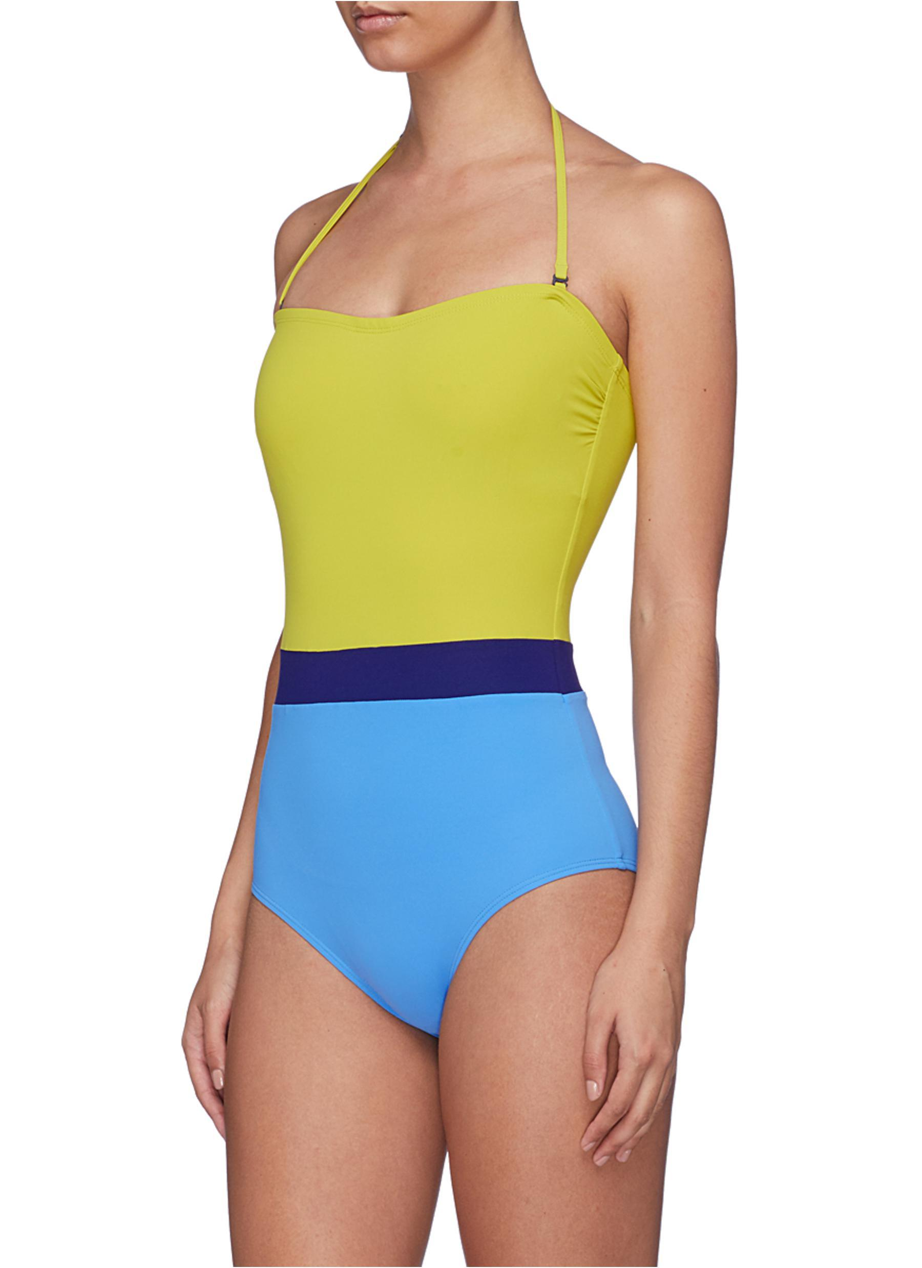 523c56186d0 Flagpole Swim 'rita' Colourblock Halterneck One-piece Swimsuit in ...