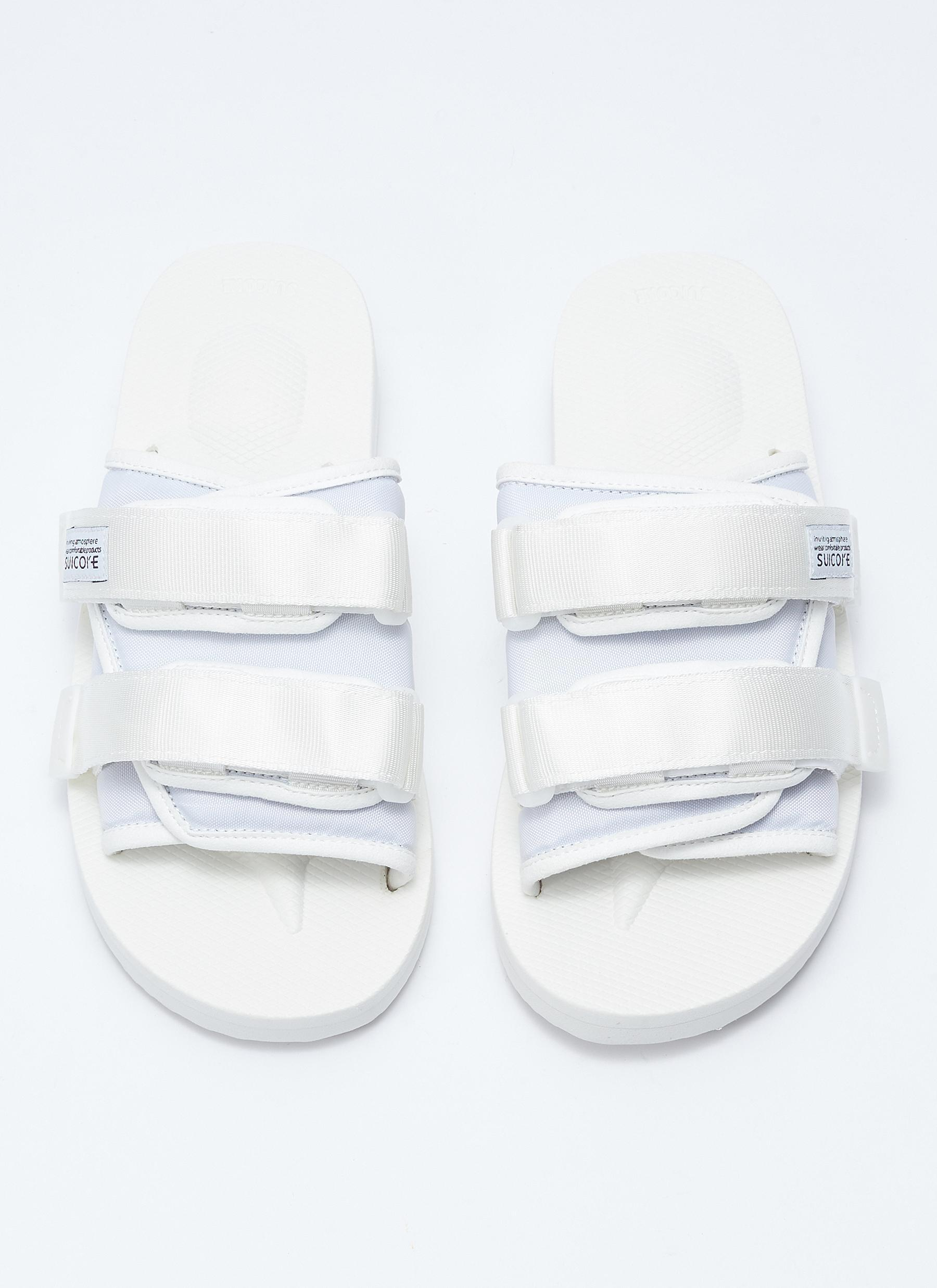 97d1916496f Suicoke - White  moto-cab  Strappy Band Slide Sandals for Men - Lyst. View  fullscreen