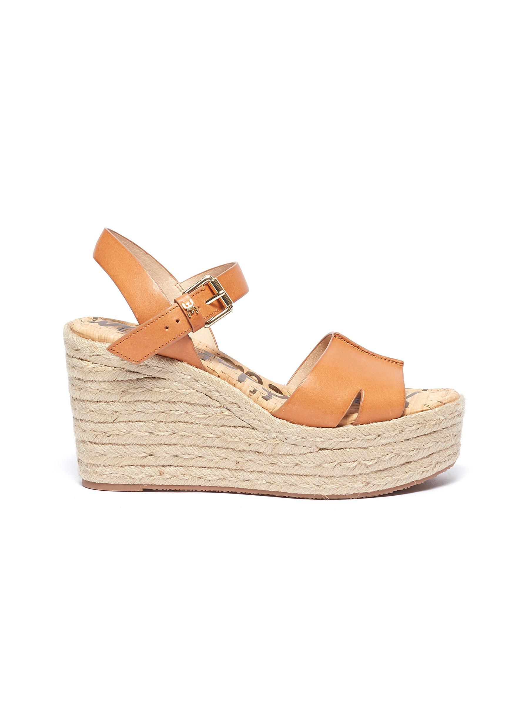 1eaca7257 Sam Edelman  maura  Leather Espadrille Wedge Sandals for Men - Lyst