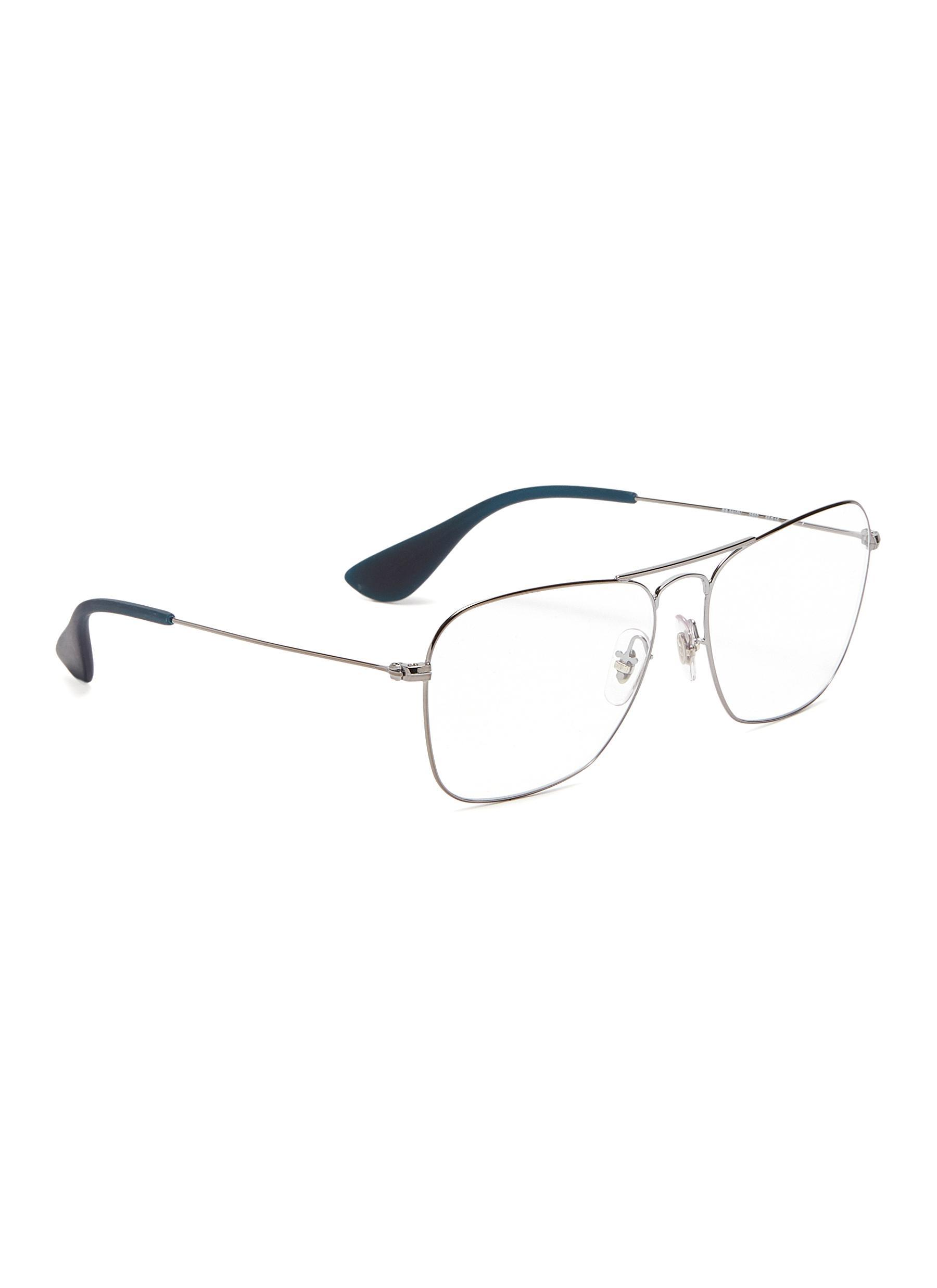 a9203197ca5 Ray-Ban - Gray  rx3610  Metal Square Aviator Optical Glasses for Men -.  View fullscreen
