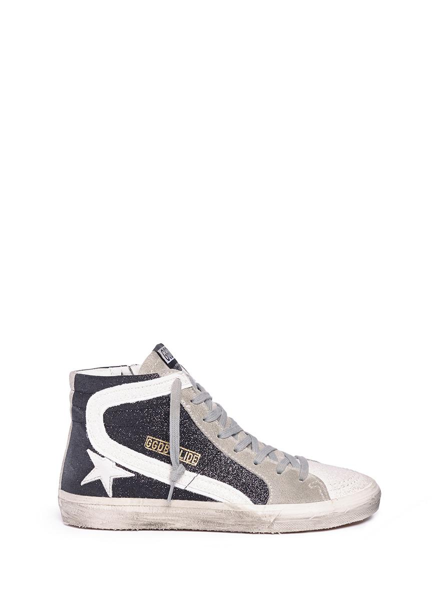 Cedro glitter-panelled sneakers - Metallic Golden Goose zSCX2HH