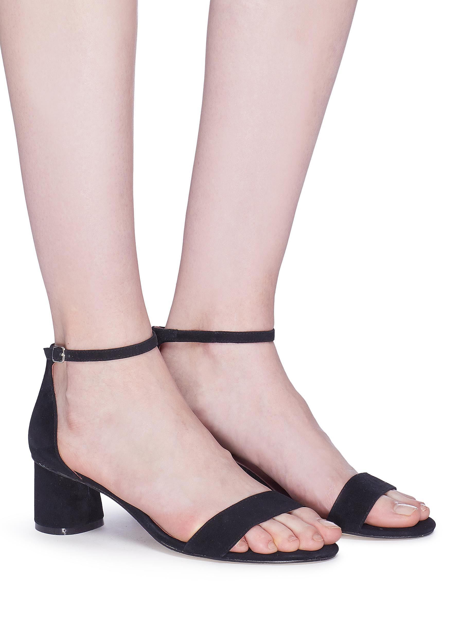 ab644b2f21c ...  alfred  Ankle Strap Suede Sandals - Lyst. View fullscreen