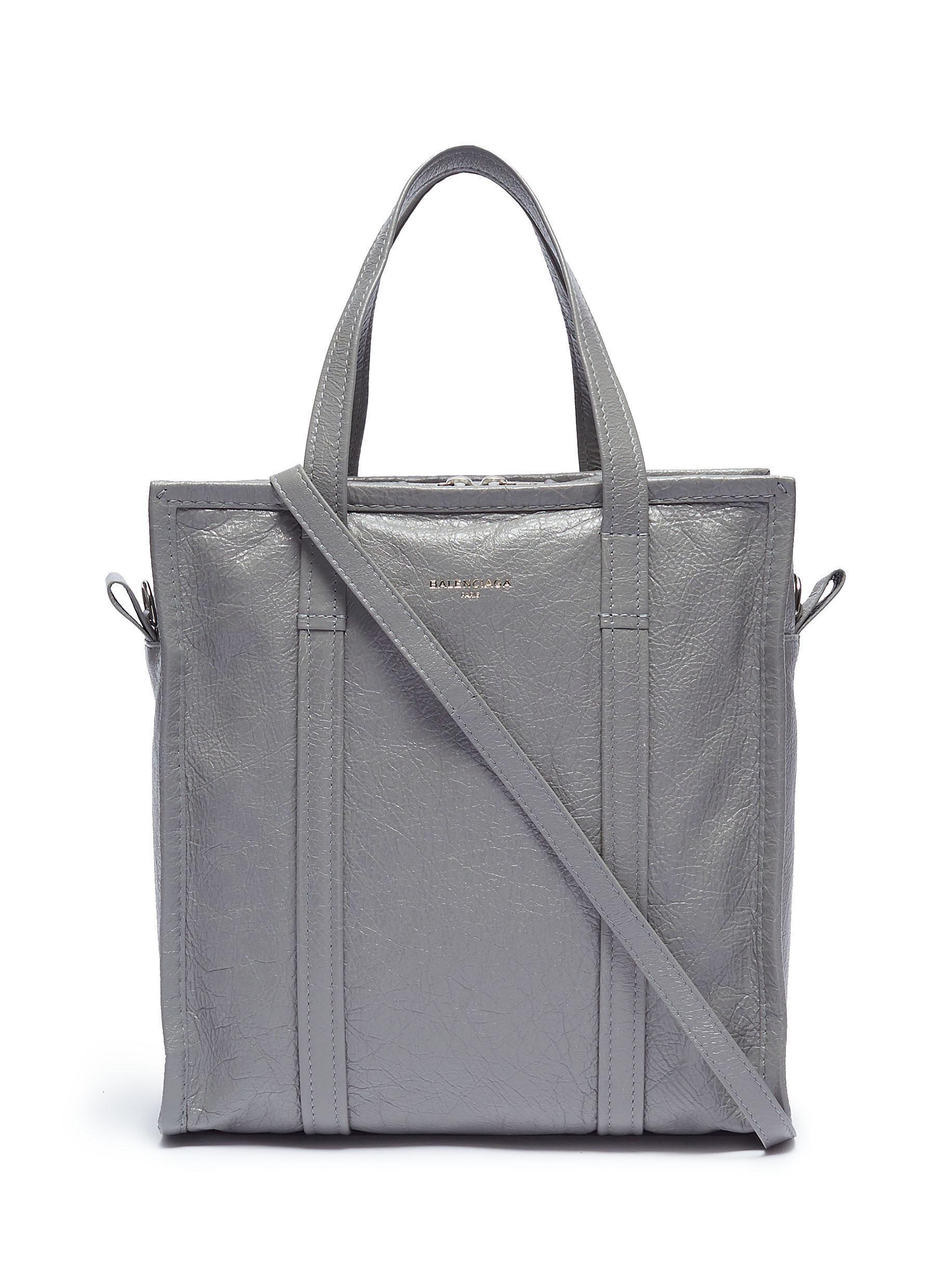c9109c0df2 Lyst - Balenciaga  bazar Shopper  Small Leather Tote in Gray