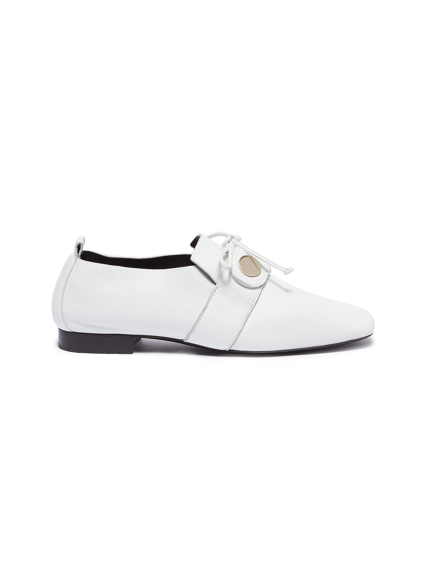 e70d72b8f45 Lyst - Pierre Hardy Penny Loafers in White
