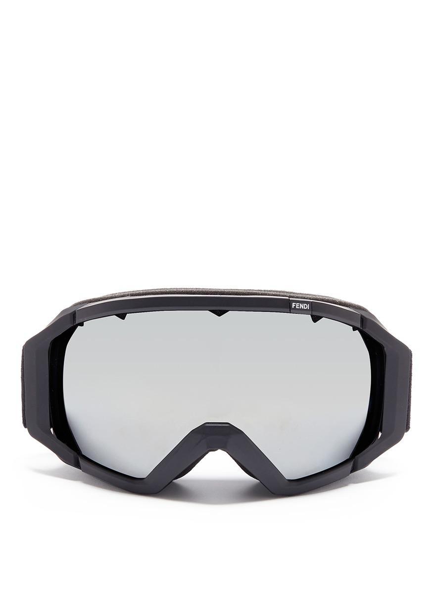 22d5bbabfb6 Lyst - Fendi Ski Goggles in Black for Men