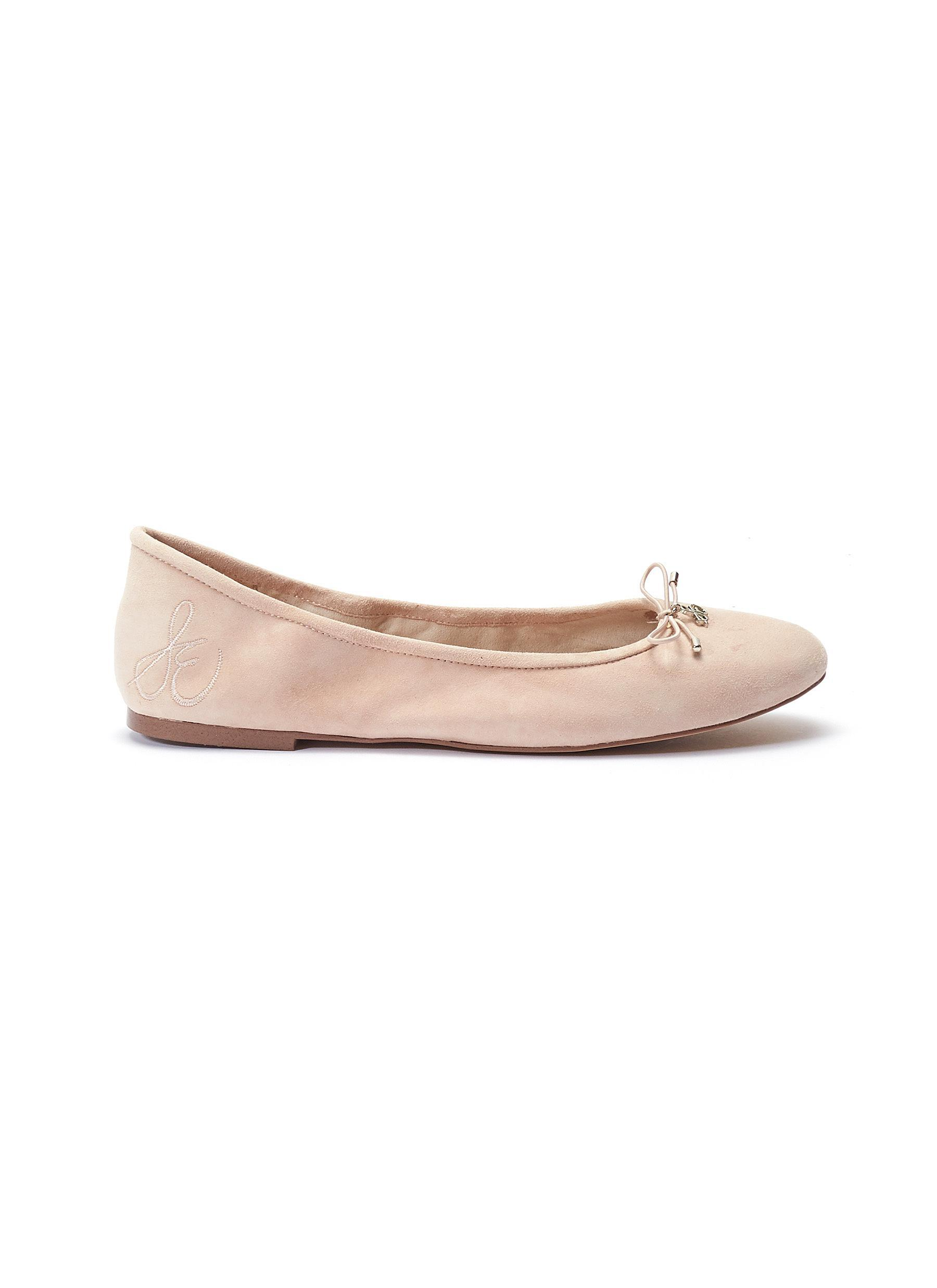 e14b9d1a8c2d96 Lyst - Sam Edelman  felicia  Suede Ballet Flats in Pink