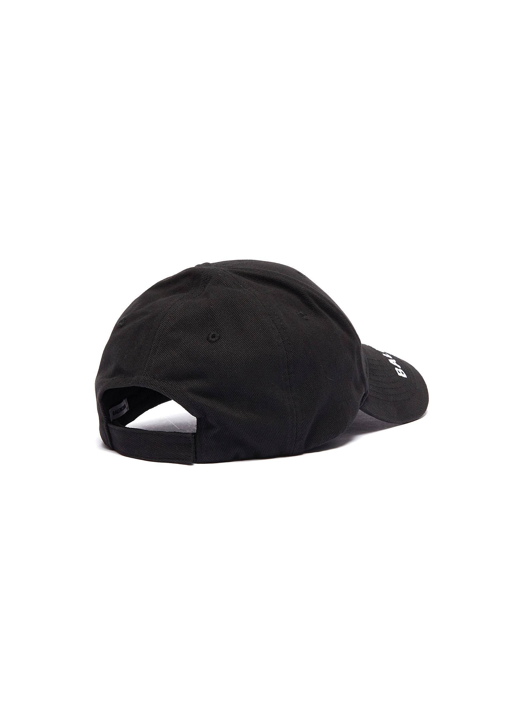 1eeaabd016d Lyst - Balenciaga  everyday  Logo Embroidered Visor Baseball Cap in ...