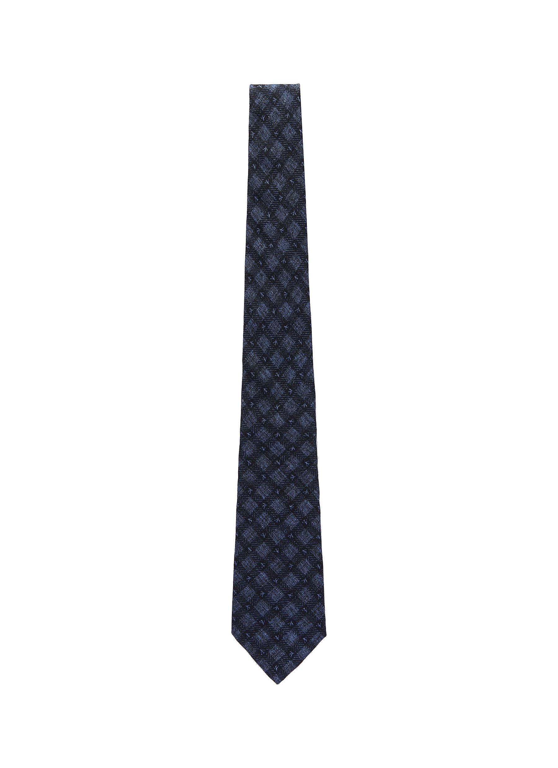 34cea35958af Isaia - Blue Coral Check Plaid Print Wool Tie for Men - Lyst. View  fullscreen