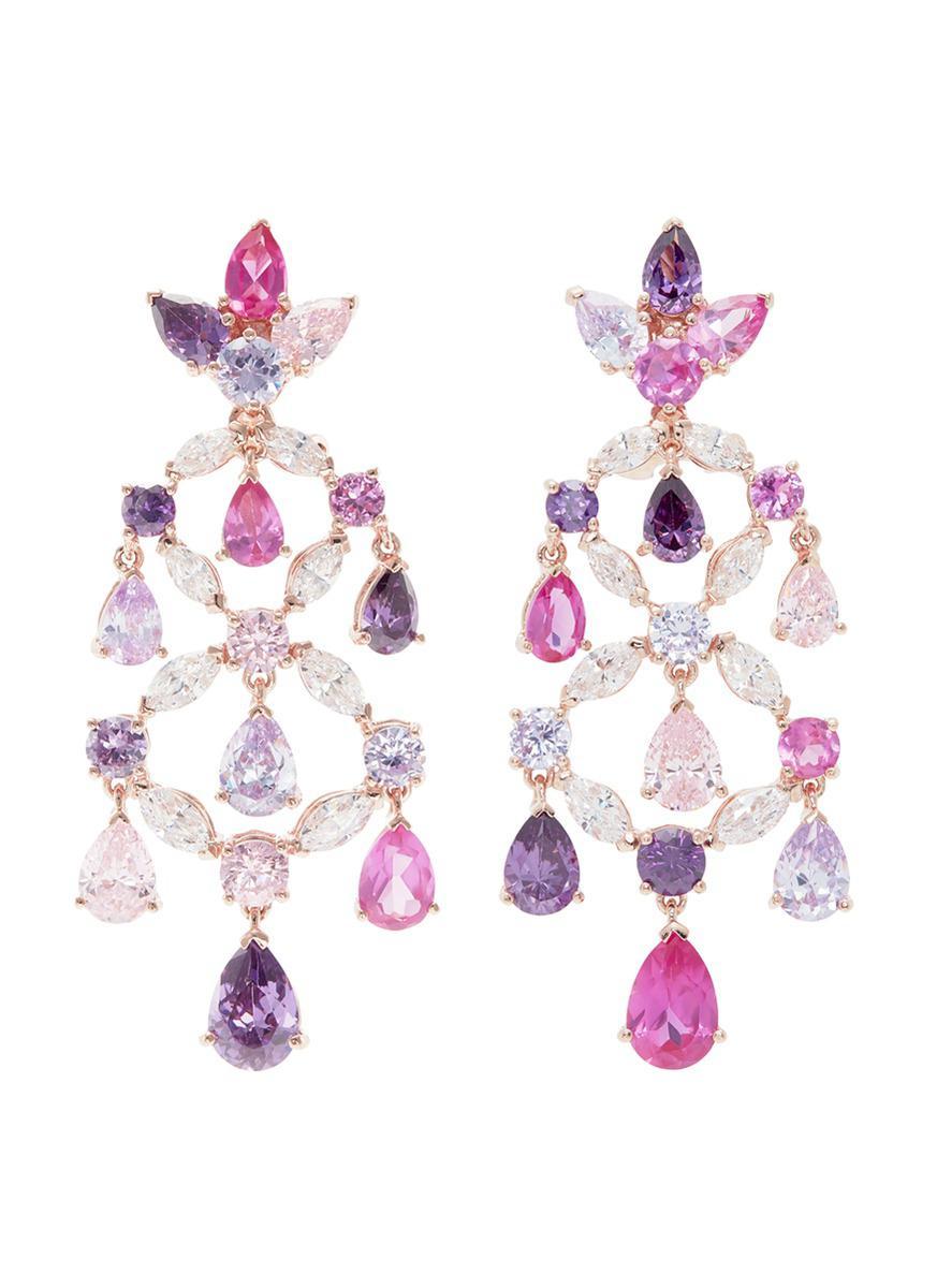 Rose Bauble 18K Rose Gold Vermeil Multi-Stone Earrings Anabela Chan 2EYau86G4K