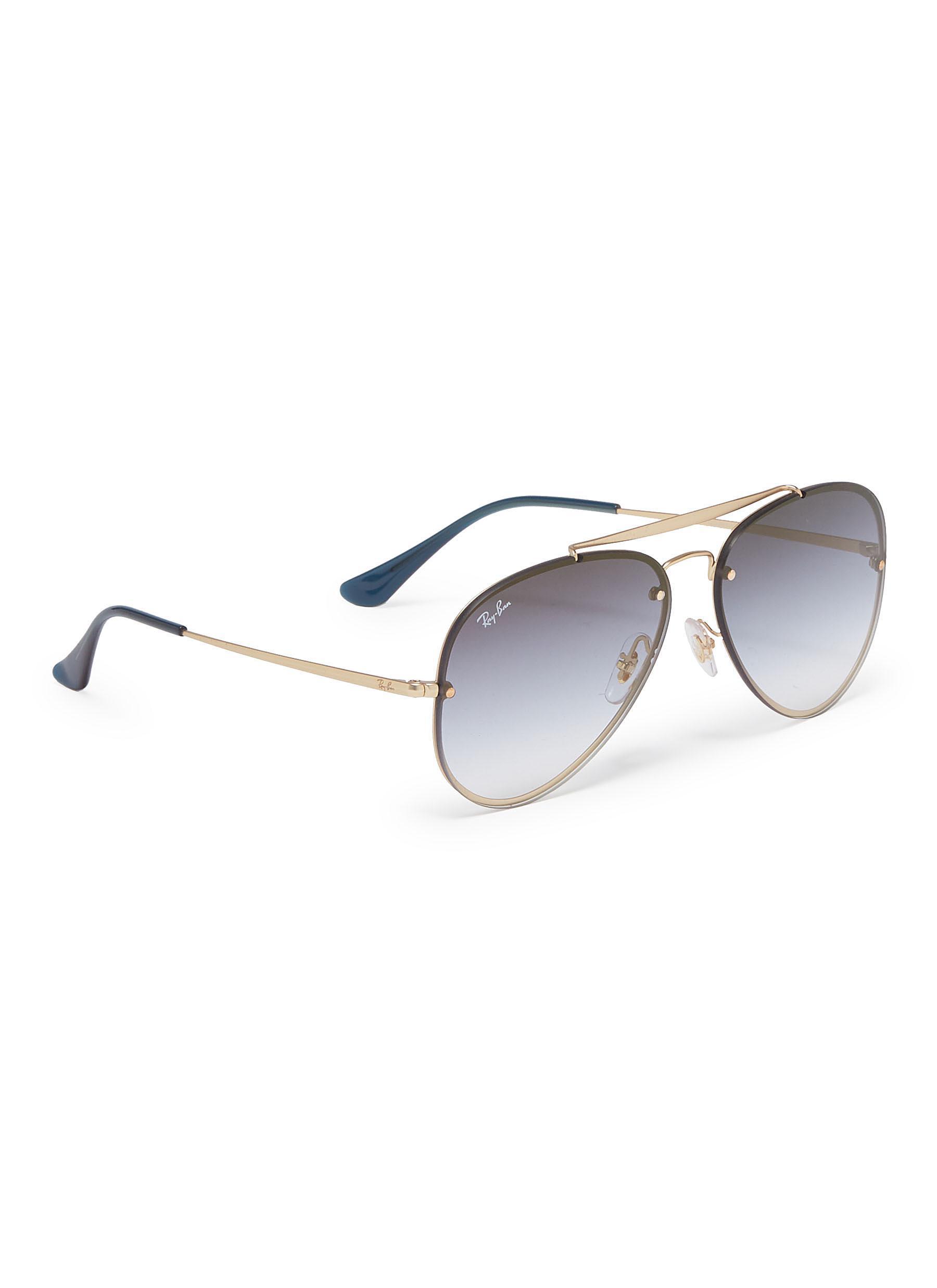 af6d7357a7 Ray-Ban - Metallic  blaze  Metal Aviator Sunglasses for Men - Lyst. View  fullscreen
