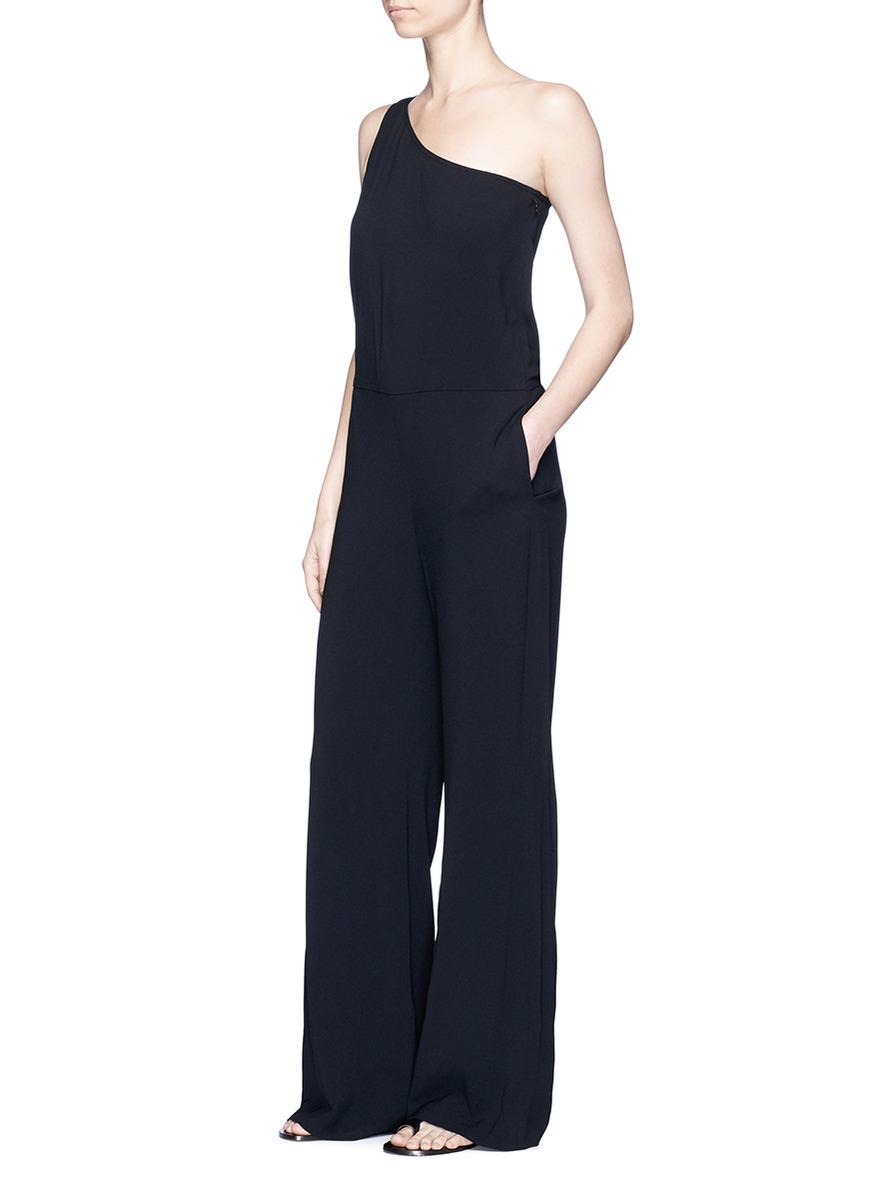 848a6f323399 Lyst - Theory  eilidh  Knotted Strap Crepe One-shoulder Jumpsuit in ...