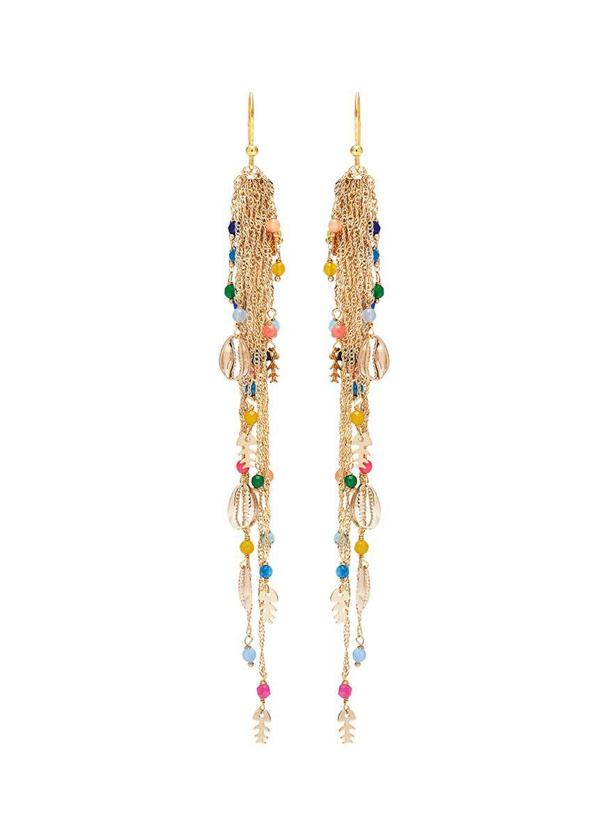 fringed drop earrings - Metallic Rosantica 5ALg5y