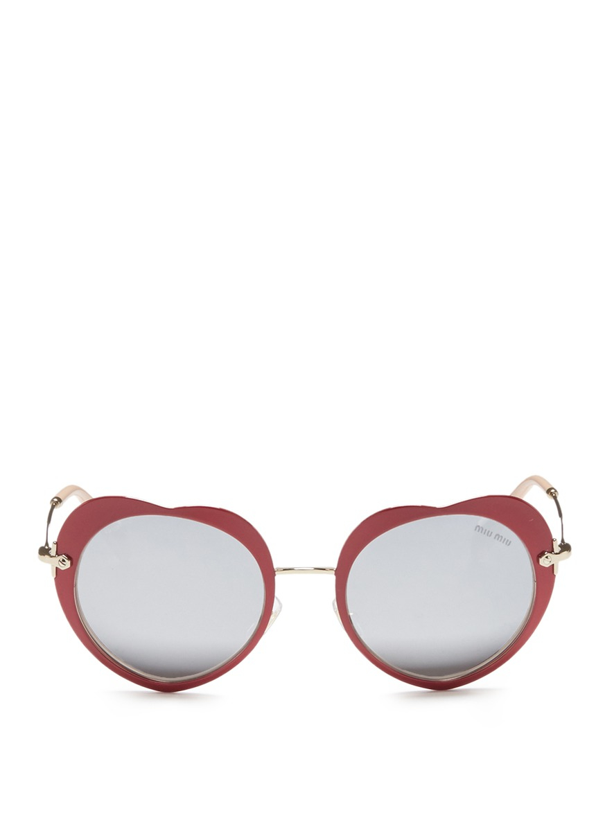 New Authentic Miu Miu MU 53RS VAD1A1 Azure Metal Cat-Eye Sunglasses Grey Lens